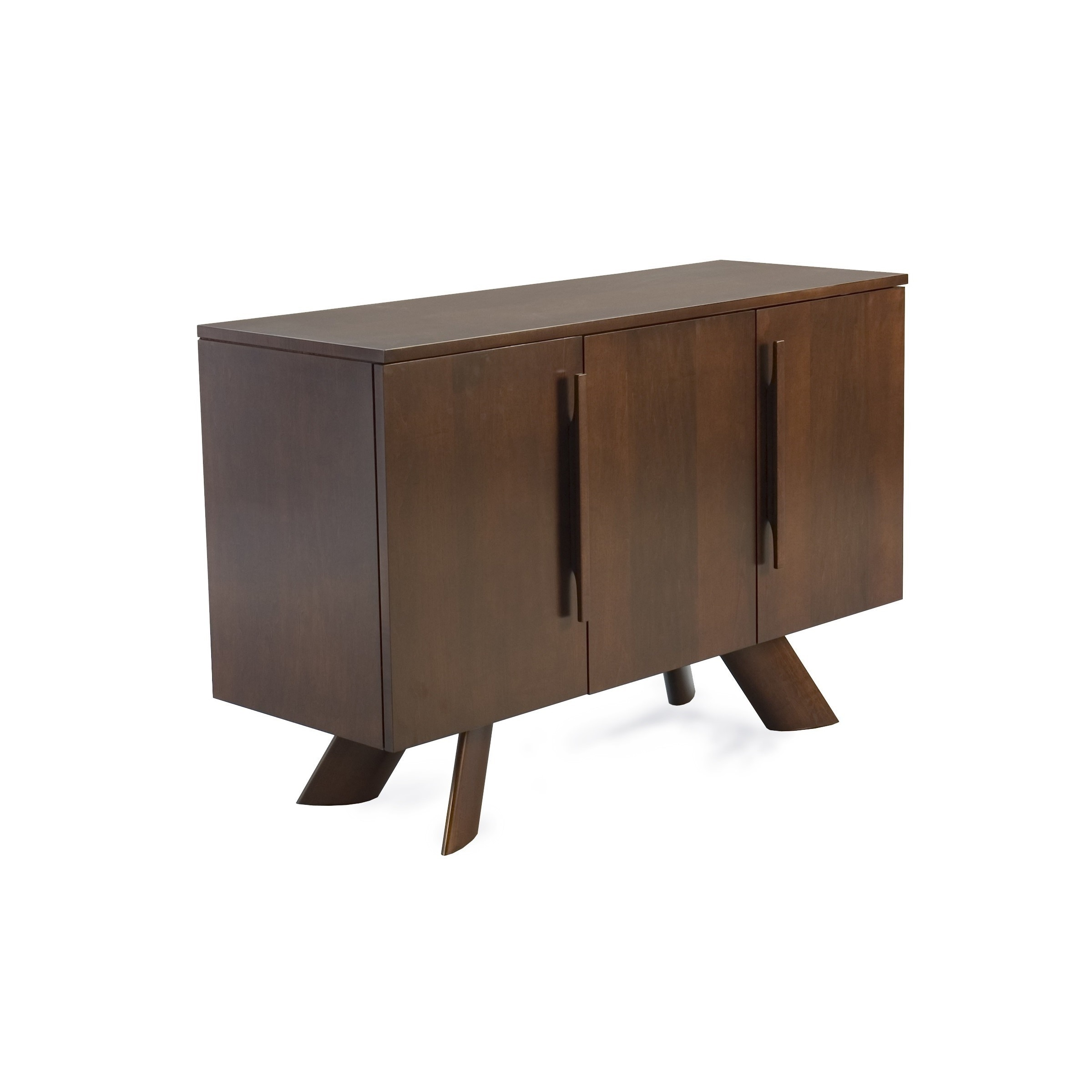 Saloom 3 door maple chocolate custom buffet with k base foot free shipping today overstock 19243869