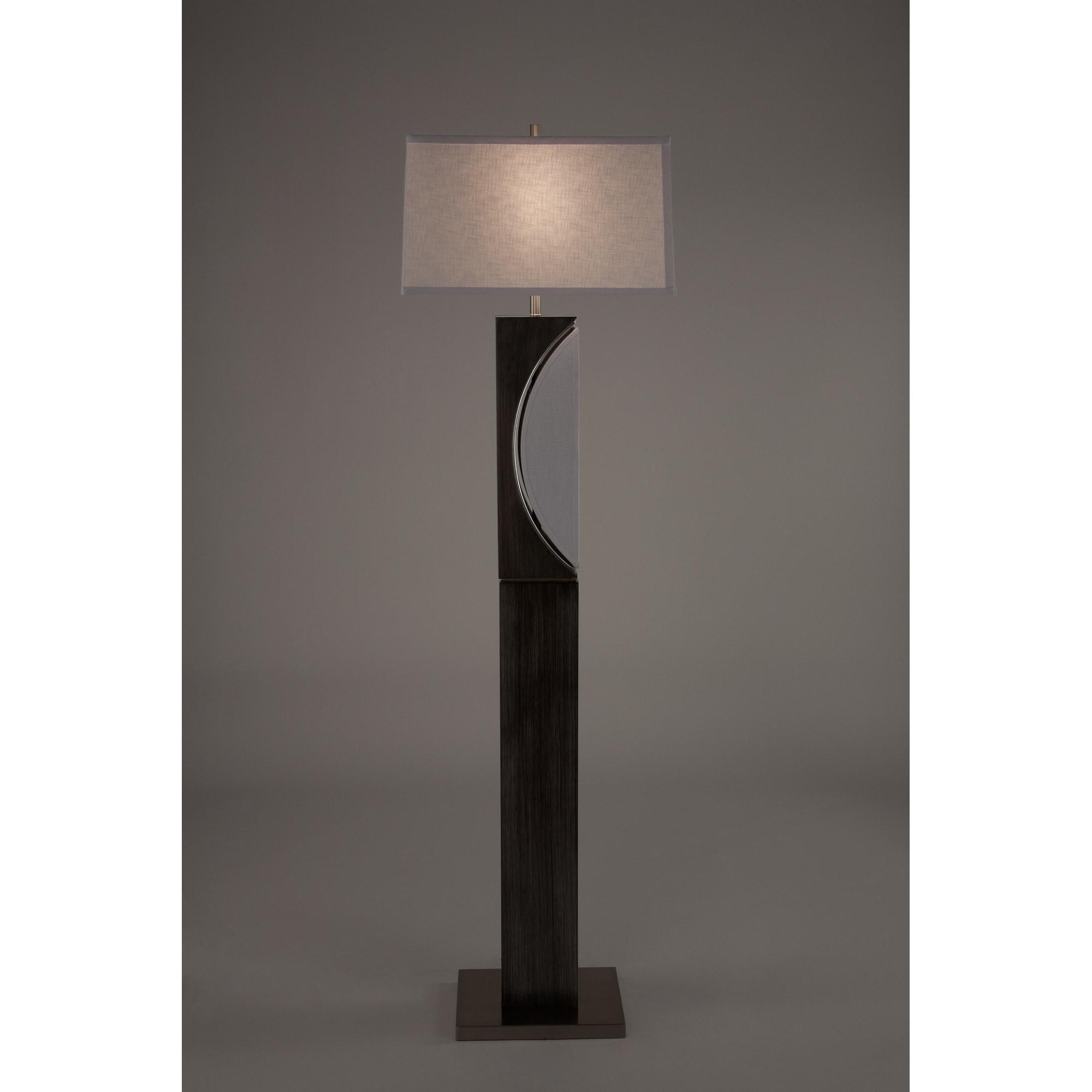 Nova Lighting Ash Grey Wood Steel Half Moon Floor Lamp Ships To Canada Ca 12427743