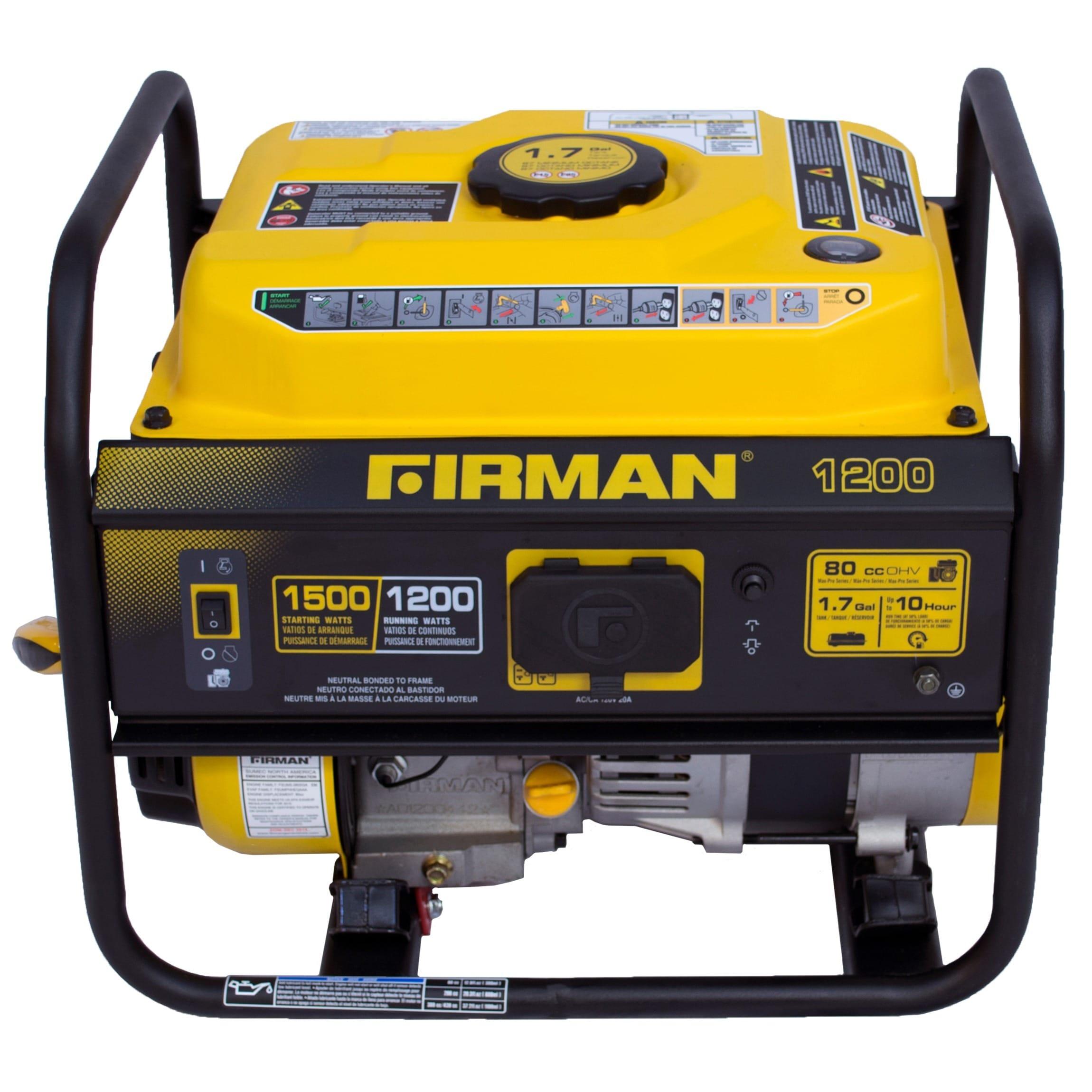 Firman Power Equipment P Gas powered 1200 1500 watt Portable