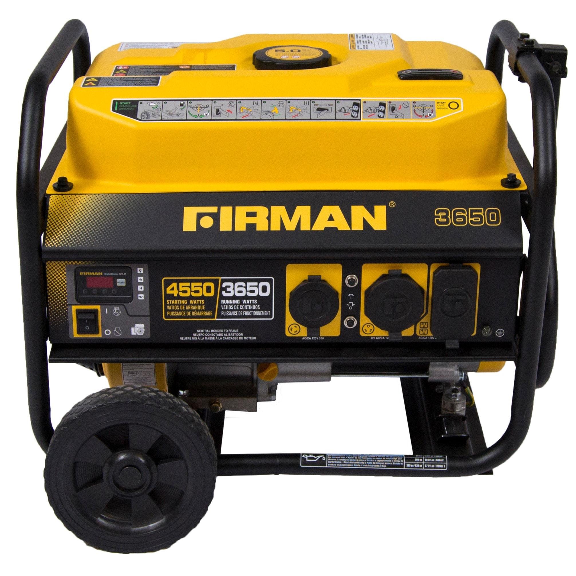 Firman Power Equipment P Gas powered 3650 4550 Watt Portable