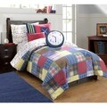 Frank and Lulu Cotton Rich Preppy Plaid Comforter Set with Shams