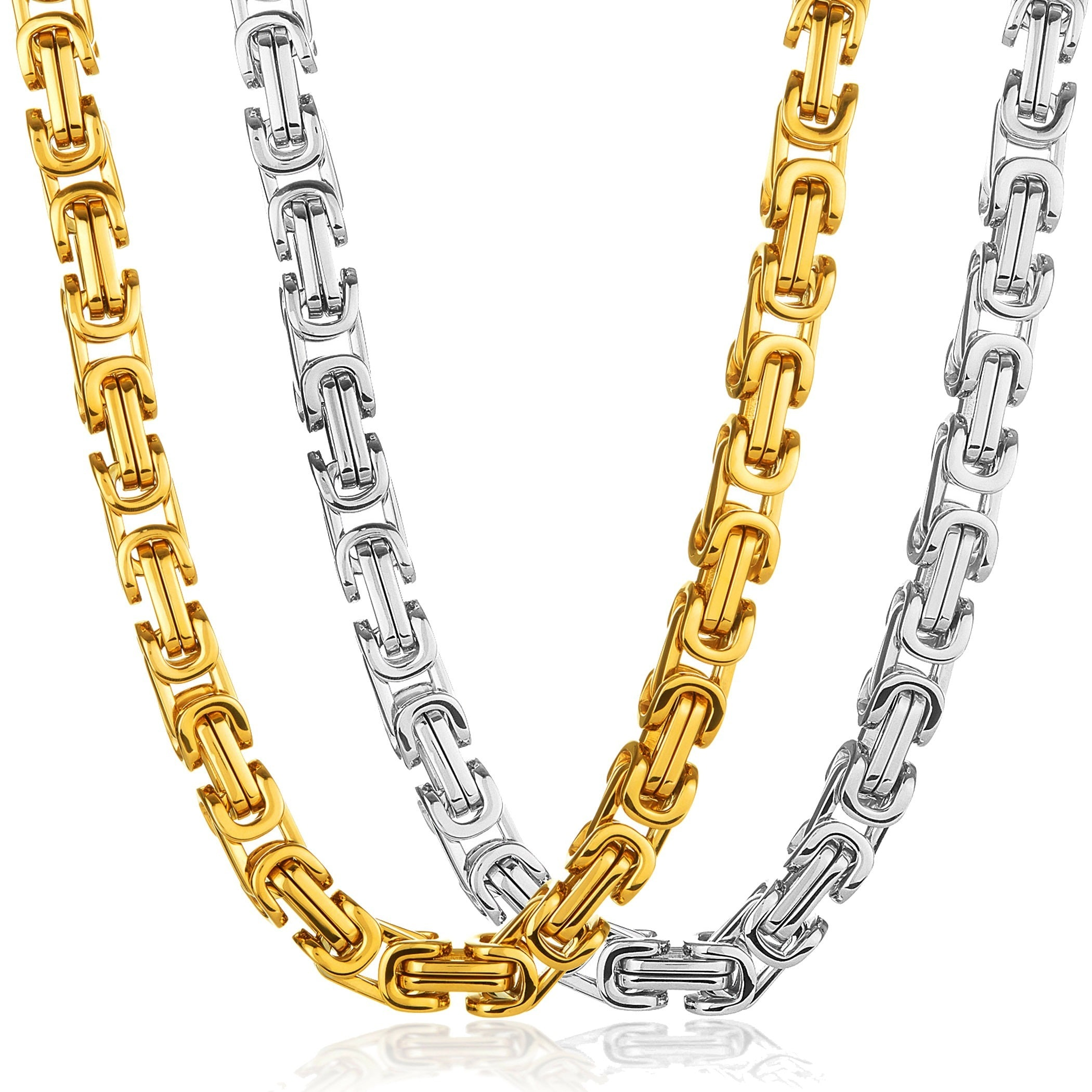 byzantine owned yellow heavy chain inch pre necklace jewellery gold image