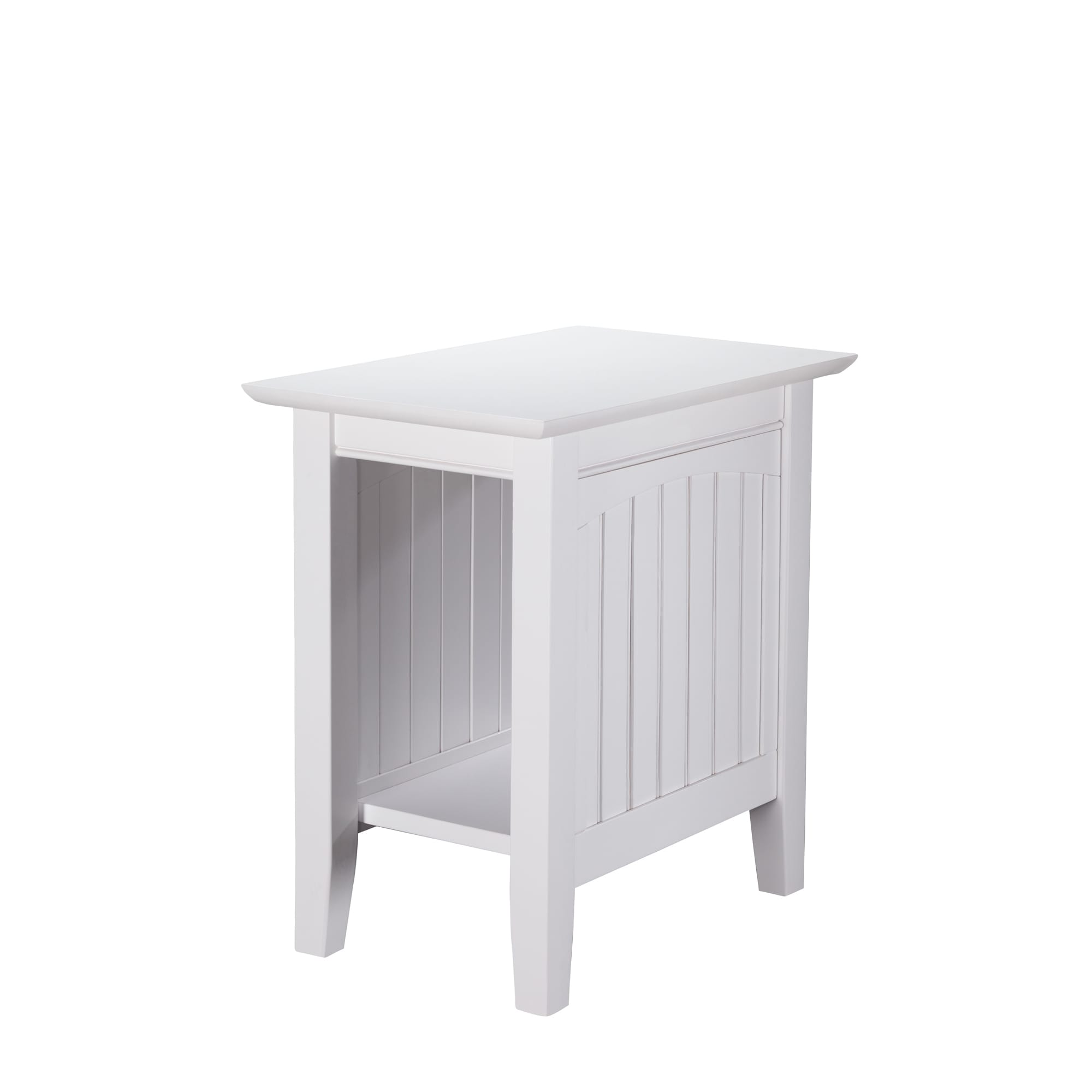 Shop Nantucket White Wood Side Table   On Sale   Free Shipping Today    Overstock.com   12434763