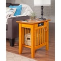 Mission Caramel Latte Side Table with Charger