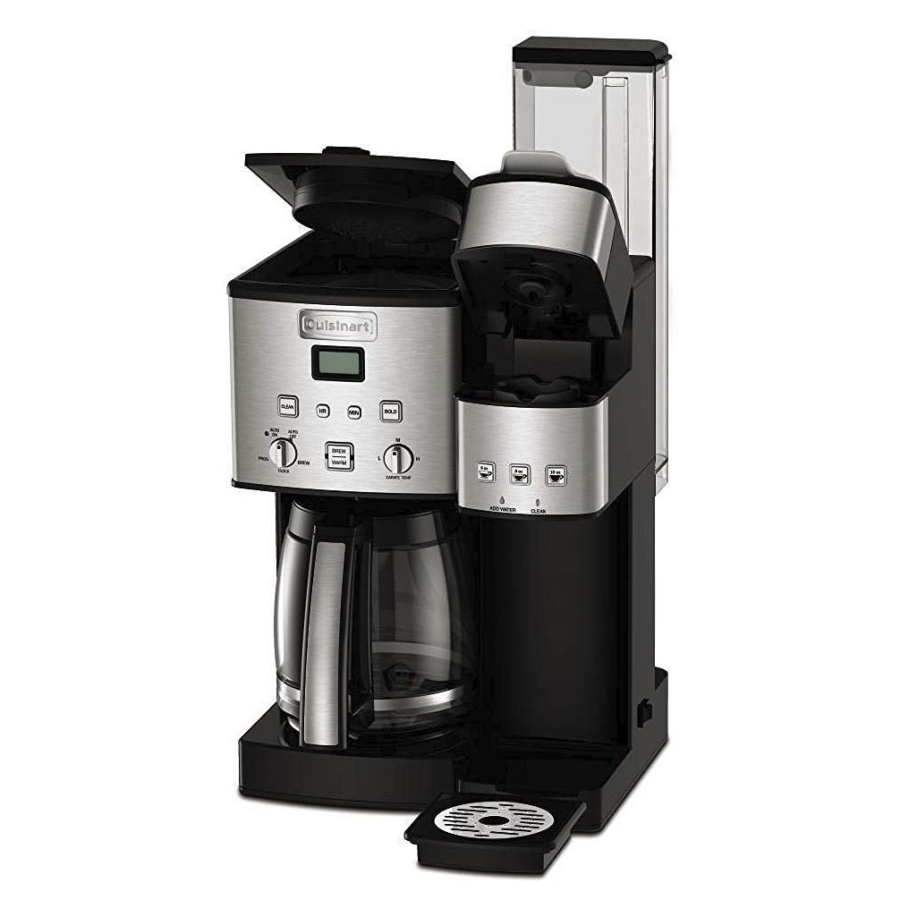 Shop Cuisinart Ss 15 Black 12 Cup Coffee Maker And Single Serve