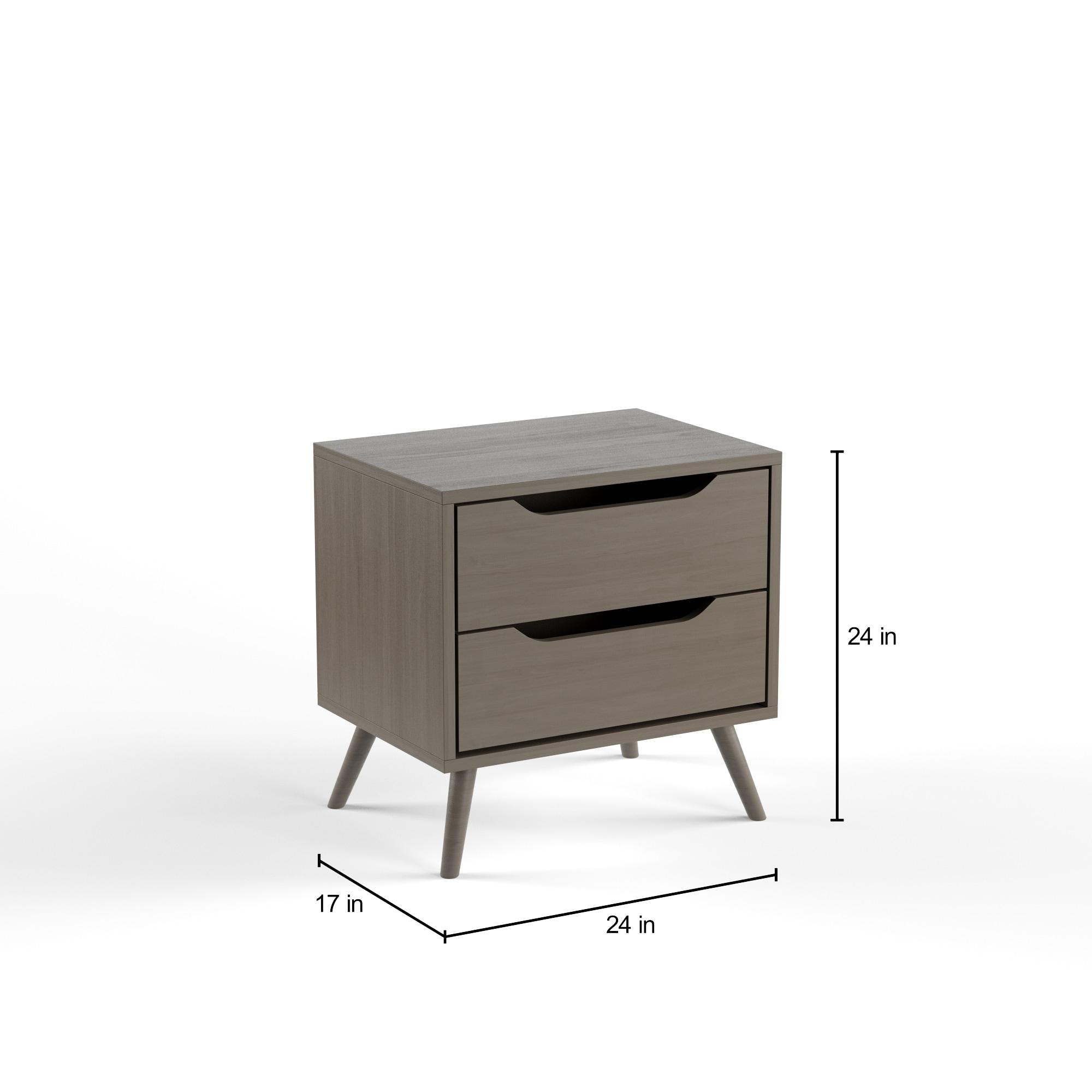 Furniture Of America Corrine Mid Century Modern 2 Drawer Nightstand   Free  Shipping Today   Overstock.com   19255569