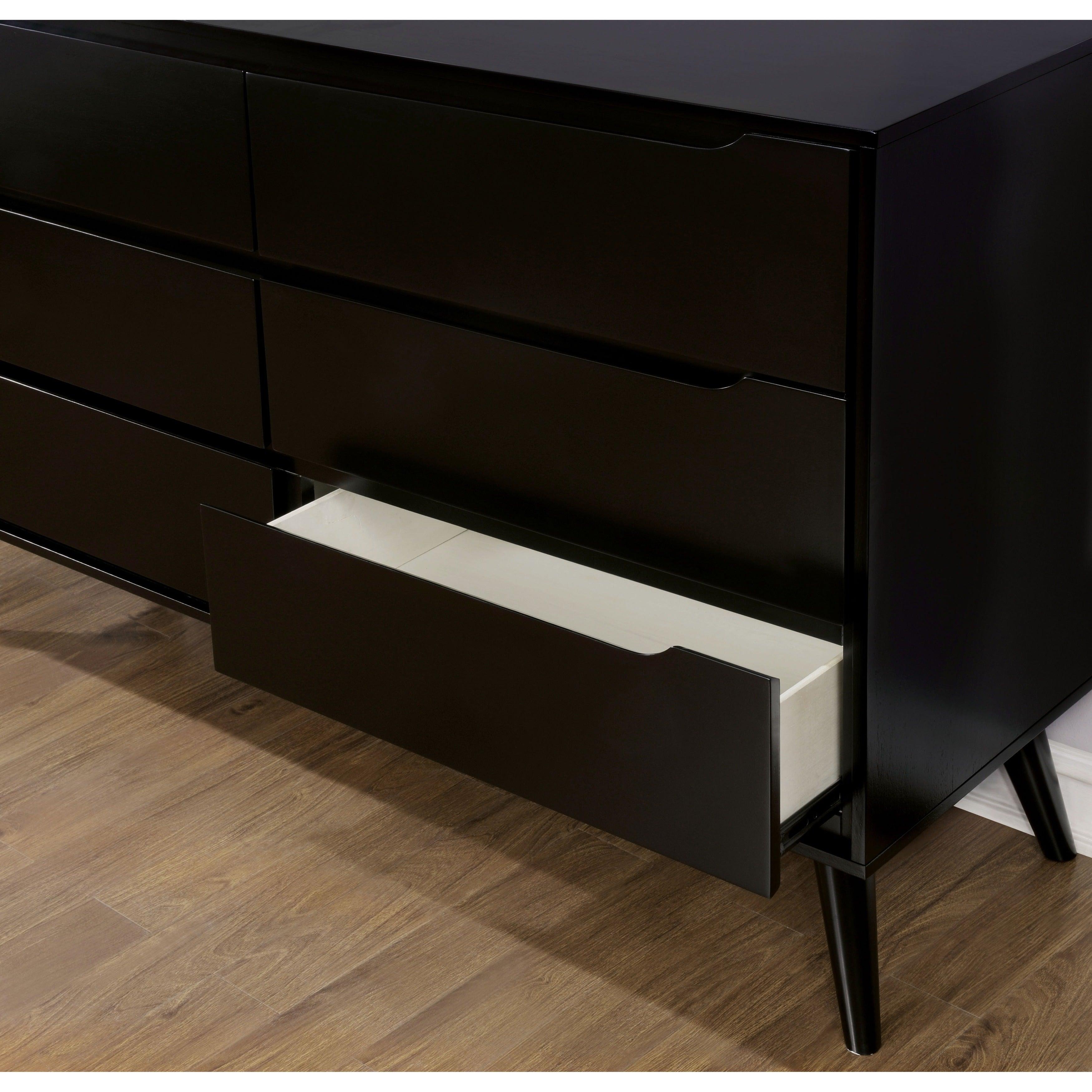 modern ideas style dresser black wood