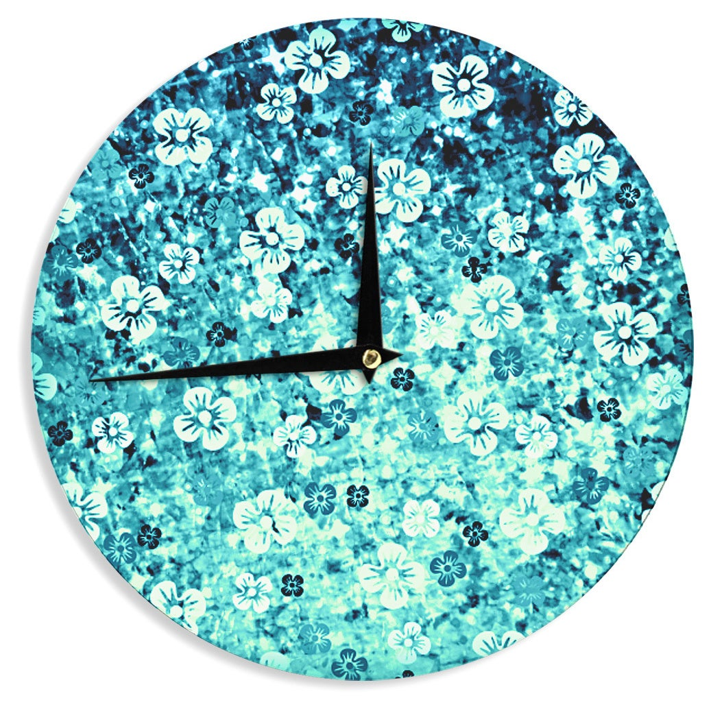 Shop KESS InHouse Ebi Emporium \'Flower Power in Blue\' Teal Aqua Wall ...