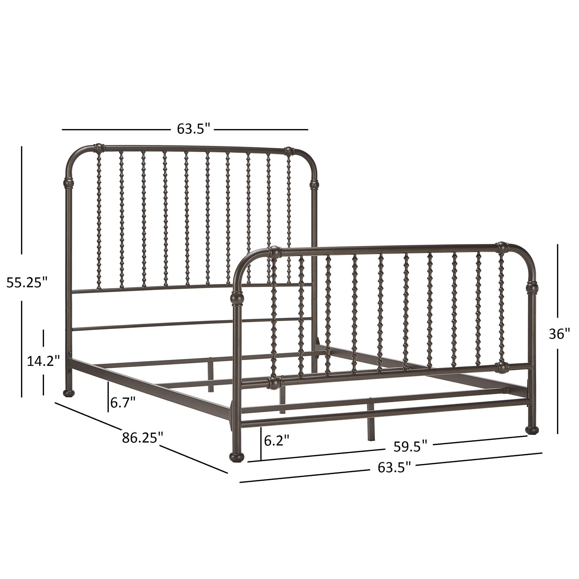 Gulliver Vintage Antique Spiral Queen Iron Metal Bed by iNSPIRE Q Bold -  Free Shipping Today - Overstock.com - 19261745