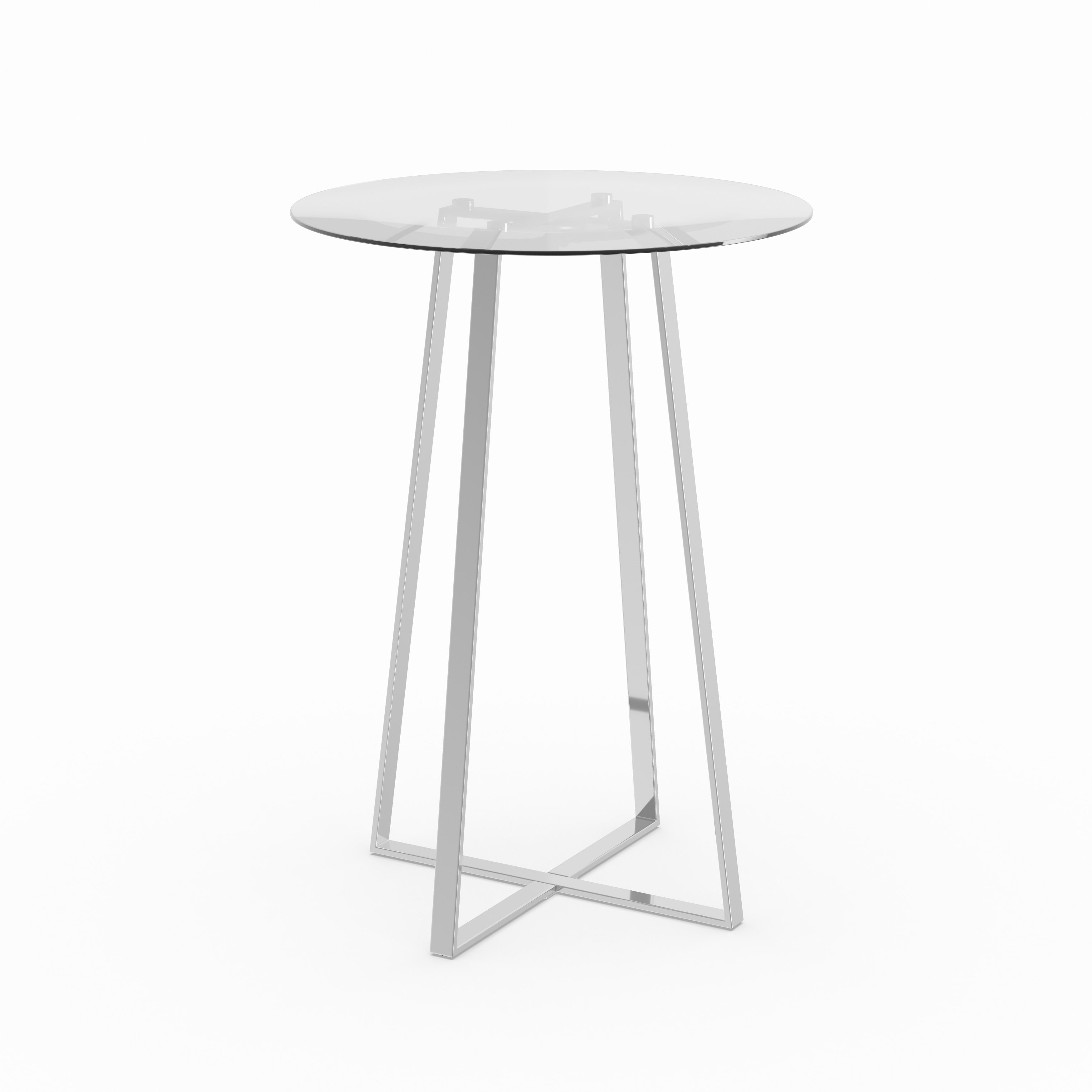 Genial Shop Coaster Company Silver Bar Table   On Sale   Free Shipping Today    Overstock.com   12449024