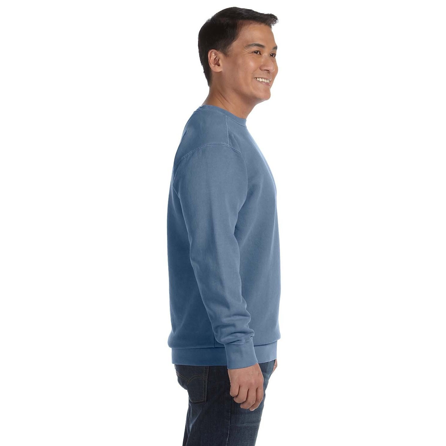 e6f71396c Shop Men s Blue Fleece Big and Tall Garment-dyed Crew-neck Sweater - On  Sale - Free Shipping On Orders Over  45 - Overstock.com - 12450179