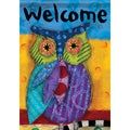 Carson Home Accents 'Bright Owl' Multicolored Synthetic Fiber Garden Flag
