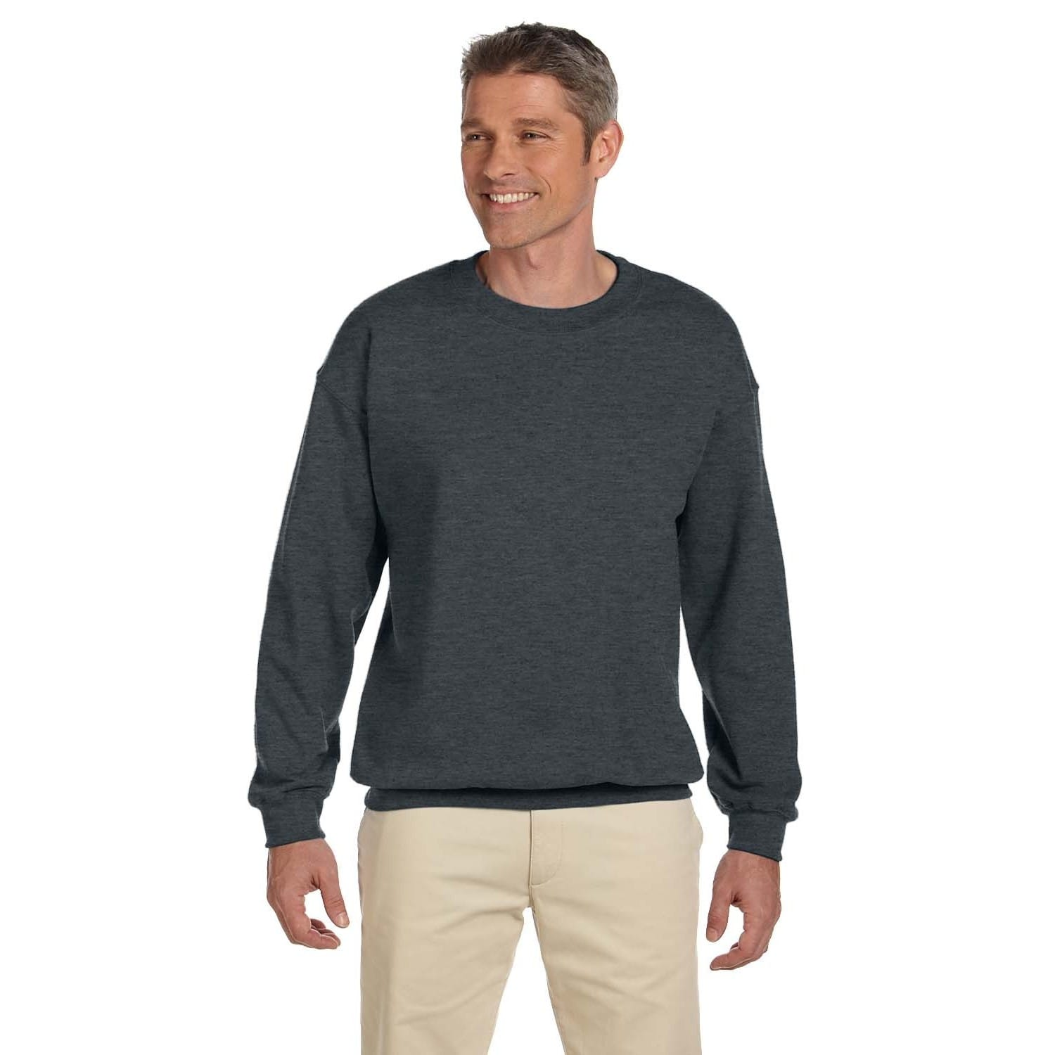 5ed2802fb Shop Men's Super Sweats Black Heather 50/50 Nublend Fleece Big and Tall  Crewneck Sweater - On Sale - Free Shipping On Orders Over $45 - Overstock -  12450218