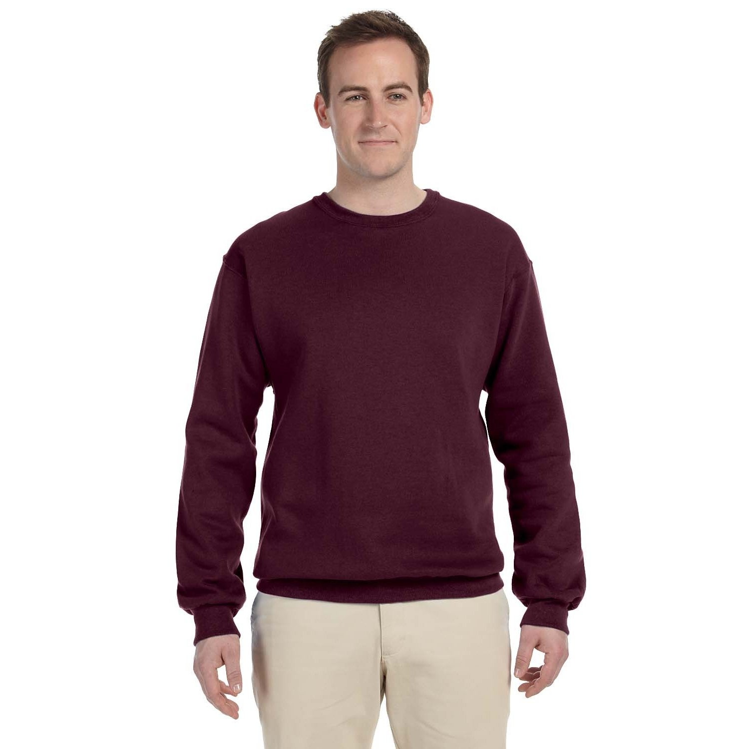 Shop Men s Maroon 50 50 Nublend Fleece Big and Tall Crew-neck Sweater - On  Sale - Free Shipping On Orders Over  45 - Overstock.com - 12450273 afaf29d06cf2