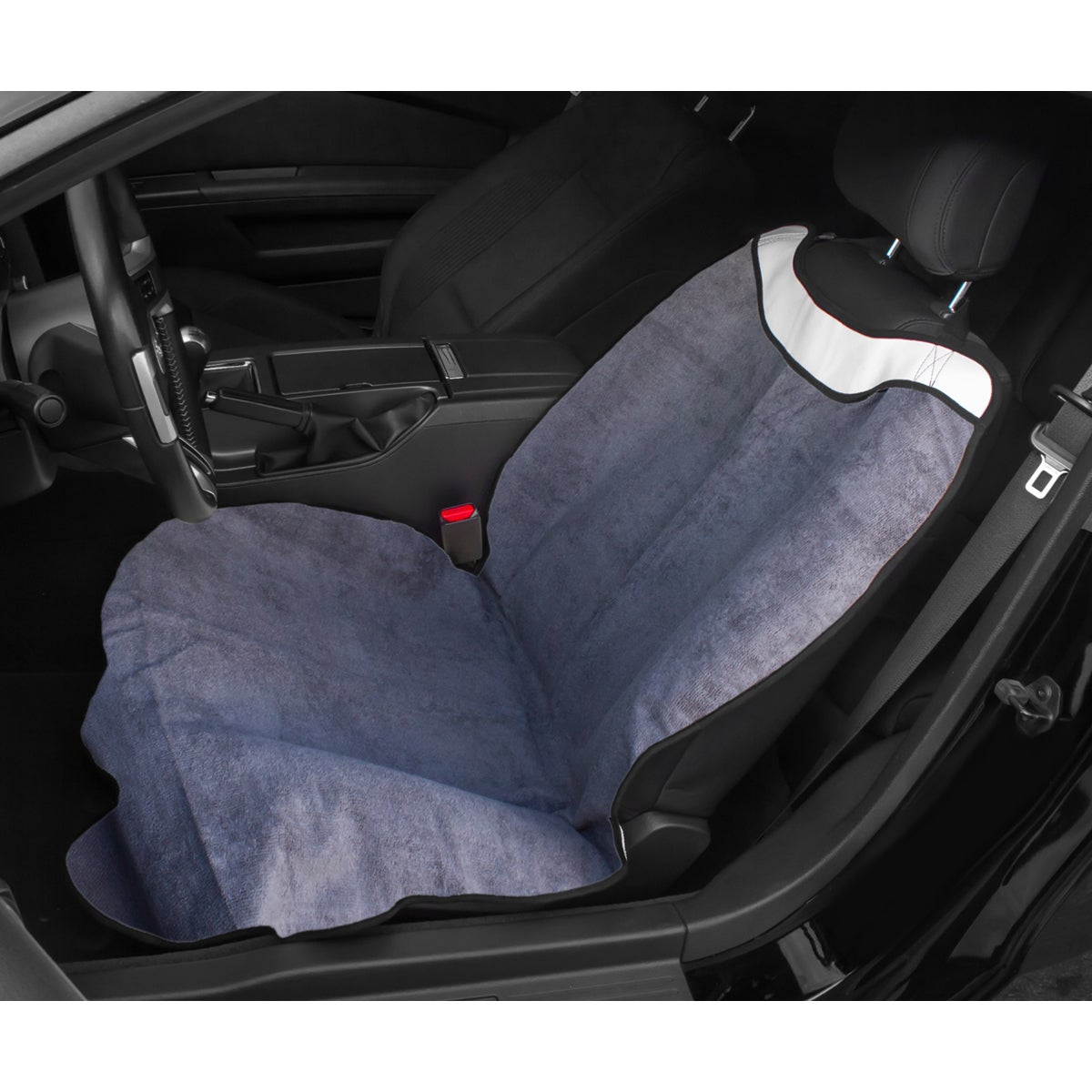 Shop OxGord Black Grey Post Workout Sweat Towel Car Seat Cover