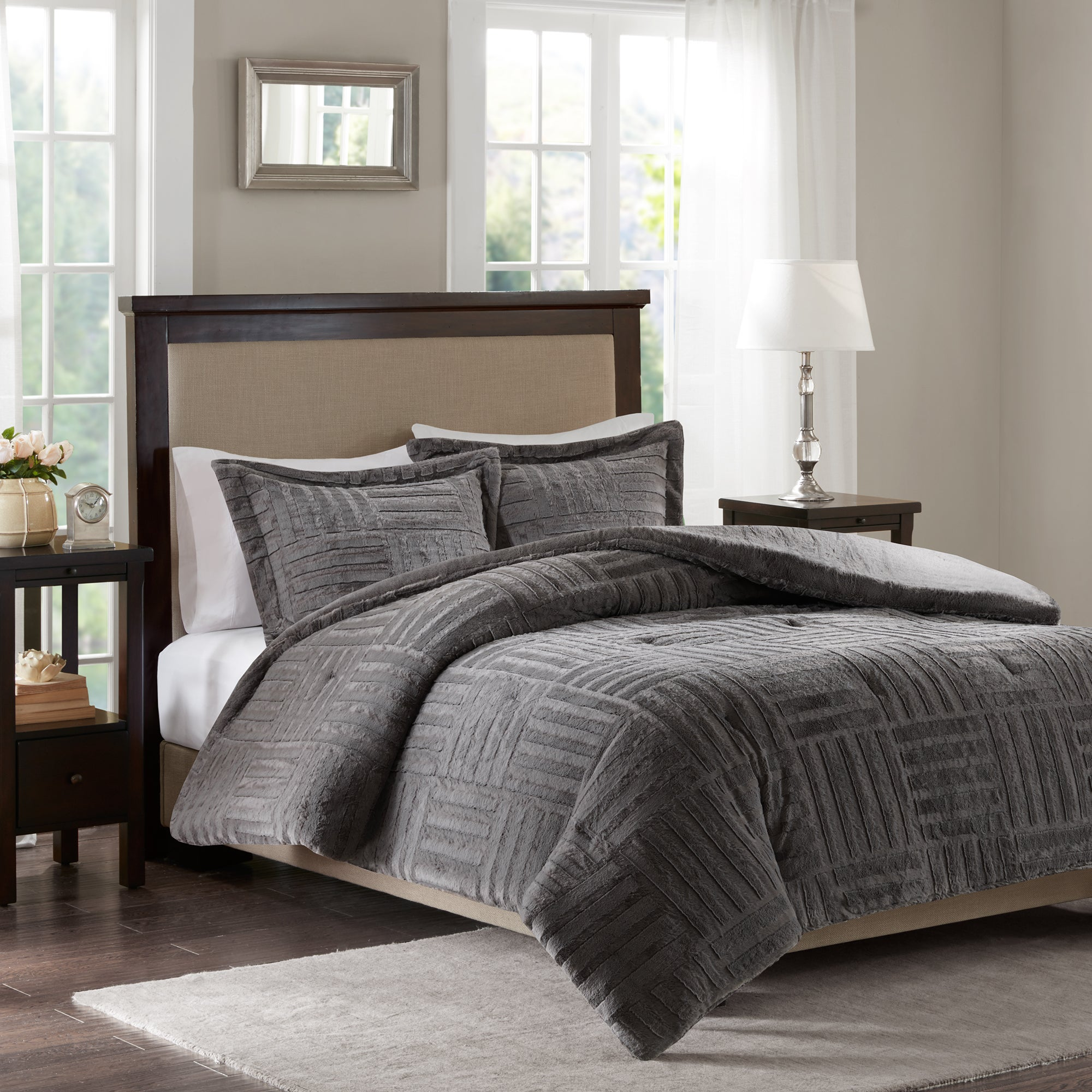 product mocha dusty alternative queen pink down reversible comforter rich mochadusty and