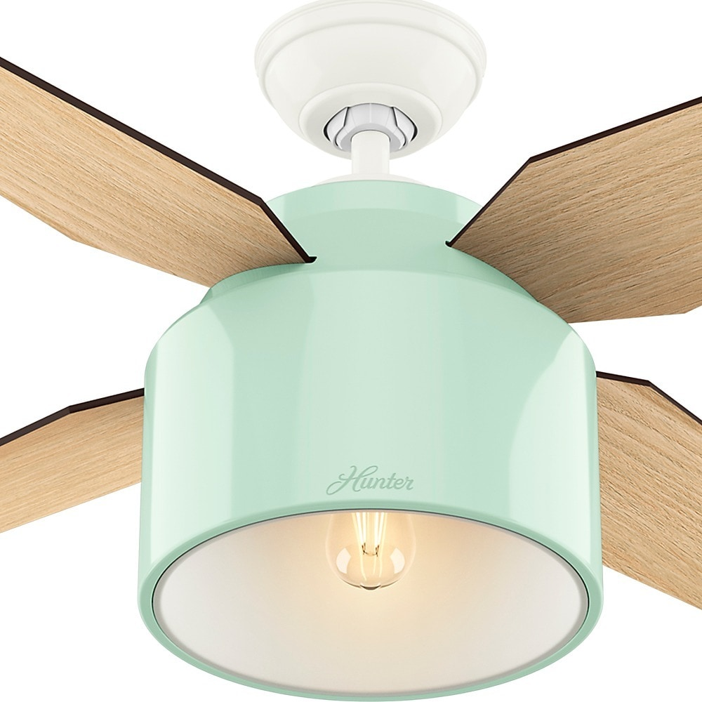 Shop hunter fan cranbrook collection 52 inch minttan metalplastic shop hunter fan cranbrook collection 52 inch minttan metalplastic ceiling fan free shipping today overstock 12453152 aloadofball Gallery
