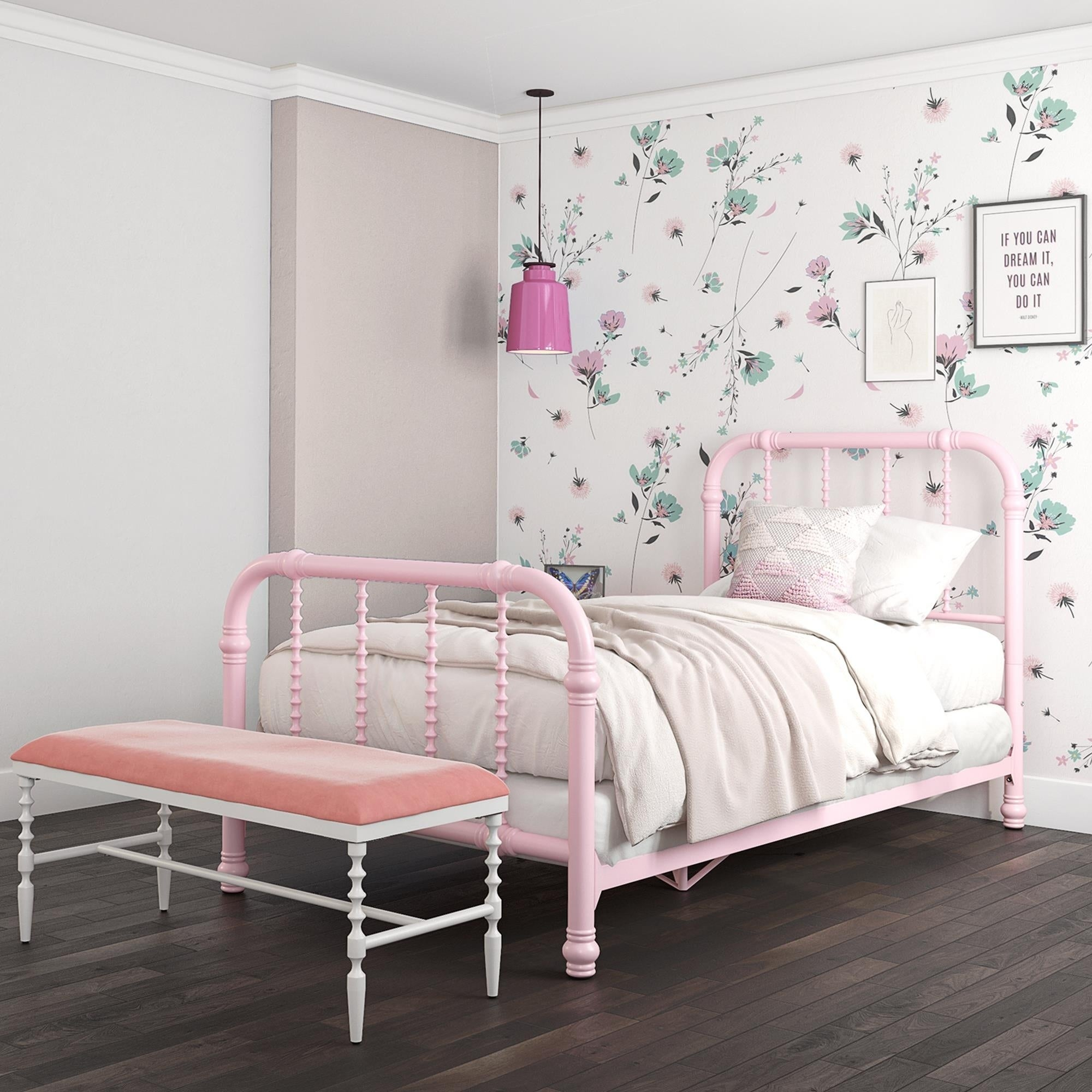 Dhp Jenny Lind Metal Twin Bed Overstock 12454083