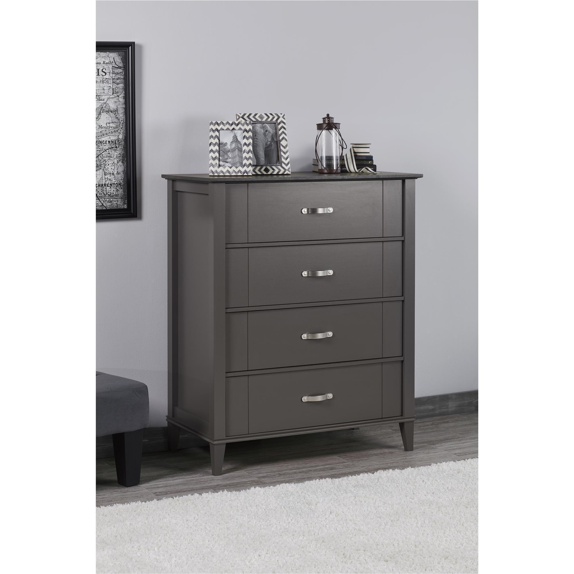 Carbon Loft Ampere Dark Grey Two Tone 4 Drawer Dresser Free Shipping Today 12456863