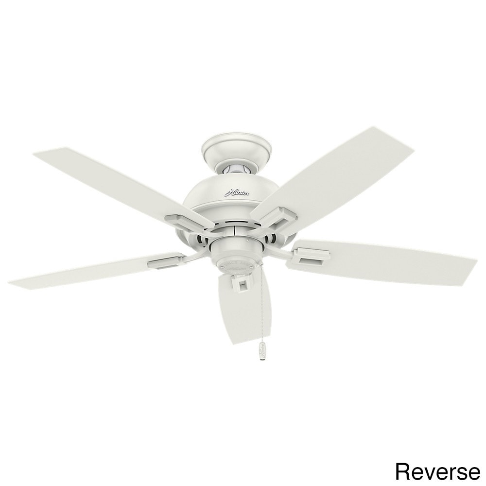 Hunter fan donegan collection fresh white metalplasticglass 44 hunter fan donegan collection fresh white metalplasticglass 44 inch ceiling fan and light kit free shipping today overstock 19283960 aloadofball