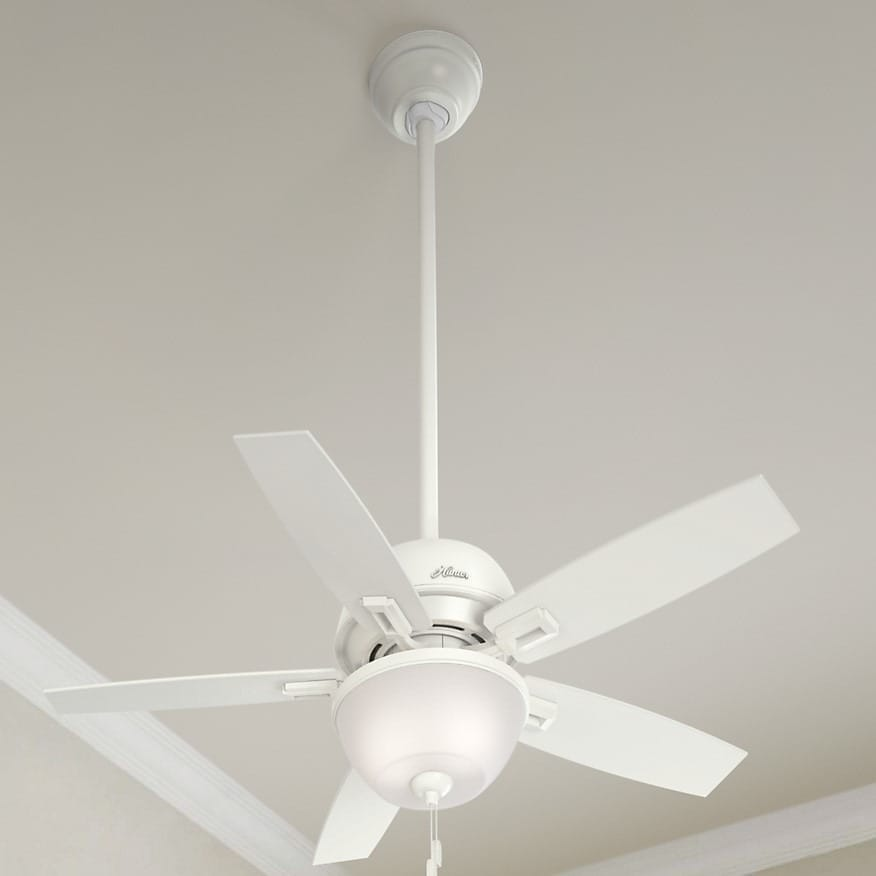 Hunter Fan Donegan Collection Fresh White Light Grey 44 Inch 5 Reversible Blades Ceiling