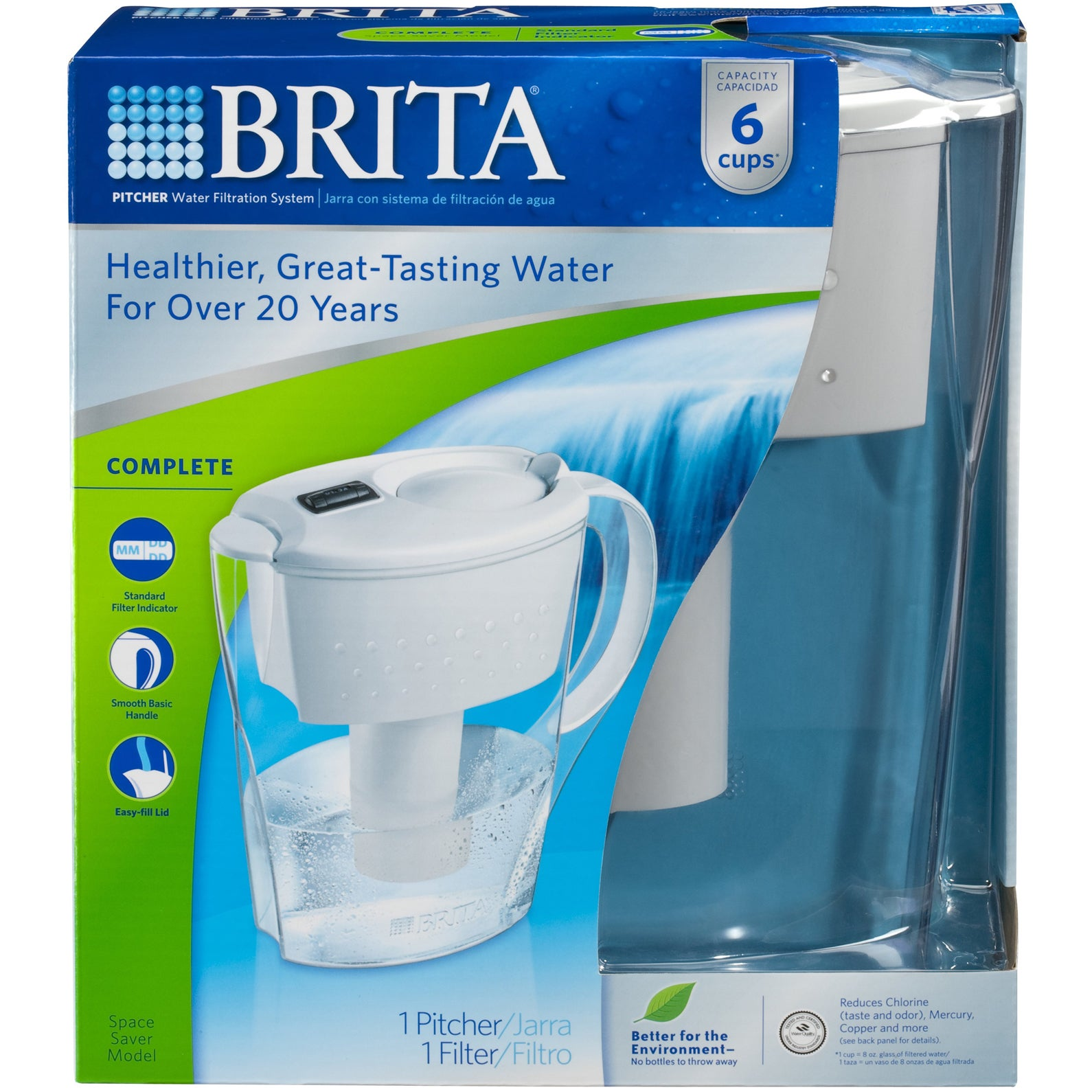 Shop Brita 35566 Space Saver Water Filtration Pitcher - Free ...