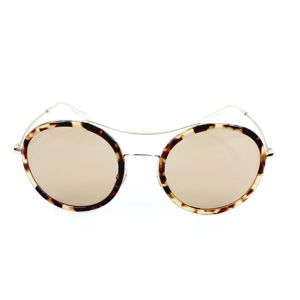 6a39dbd20af4b Shop Gucci GG 4252NS H7UXS Havana Gold Frame Brown Lens Unisex Sunglasses -  Free Shipping Today - Overstock - 12486031