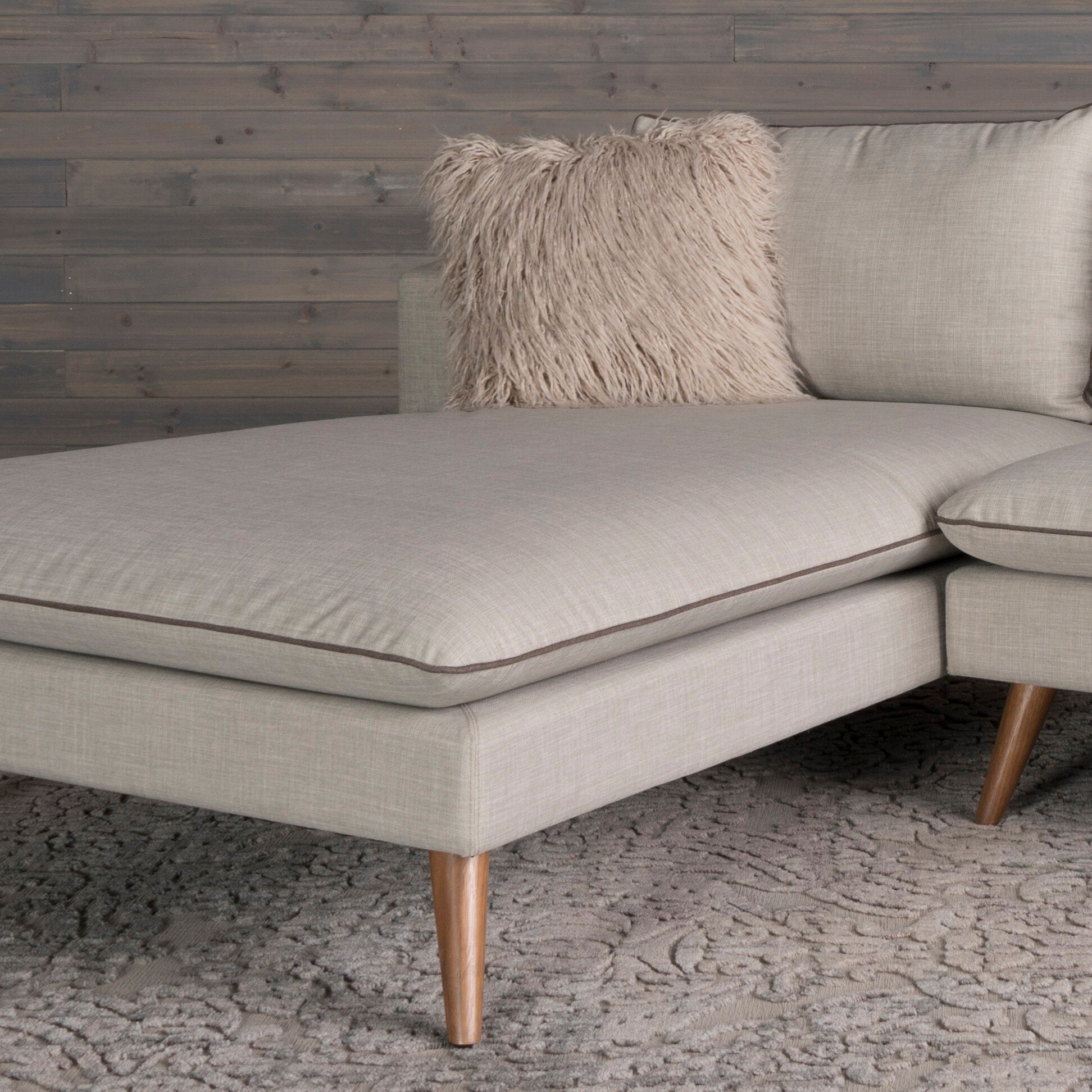 Shop Marco Mid Century Modern 2 Piece Stonewashed Grey Sofa
