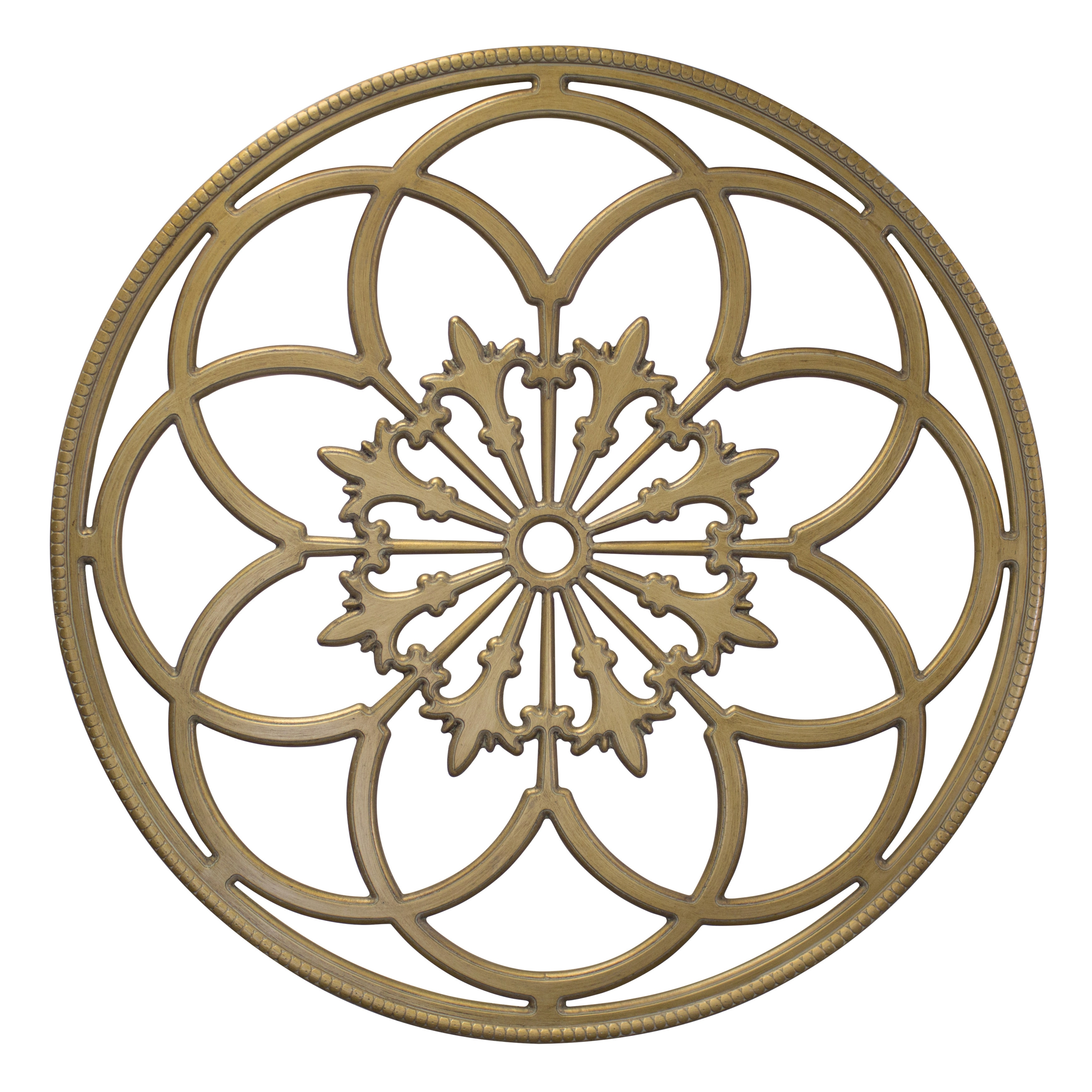 Round Medallion Wall Art Kate Anc Laurel Ondelette Round Medallion Wood Wall Art Plaque