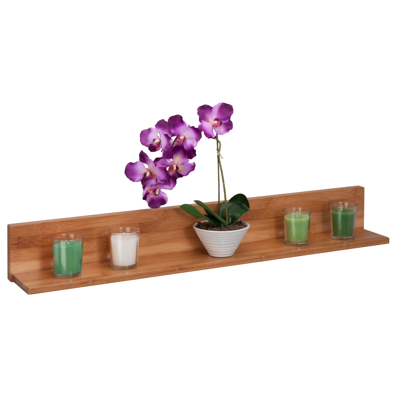 Shop Honey-Can-Do Bamboo L Shaped Wall Shelf - Free Shipping On ...