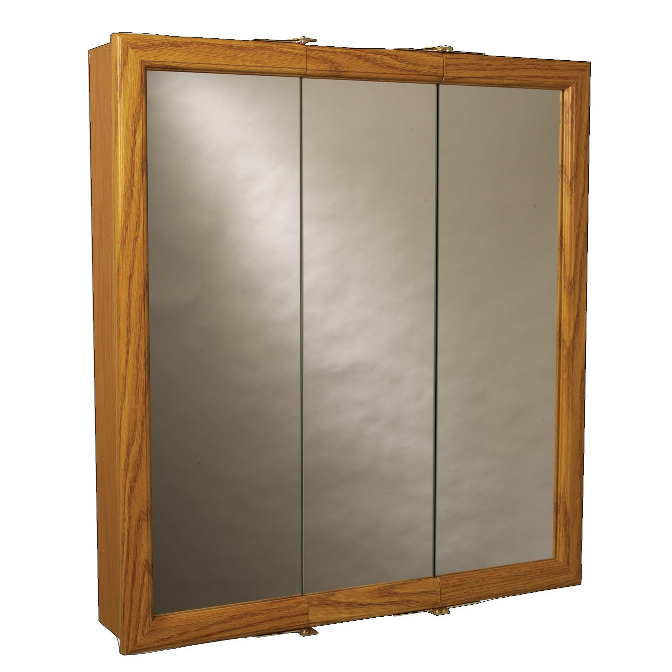 Shop Zenith K30 Oak Framed Tri View Mirror Medicine Cabinet   Free Shipping  Today   Overstock.com   12493909