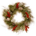 24-inch Christmas Wreath with Bells and Berries