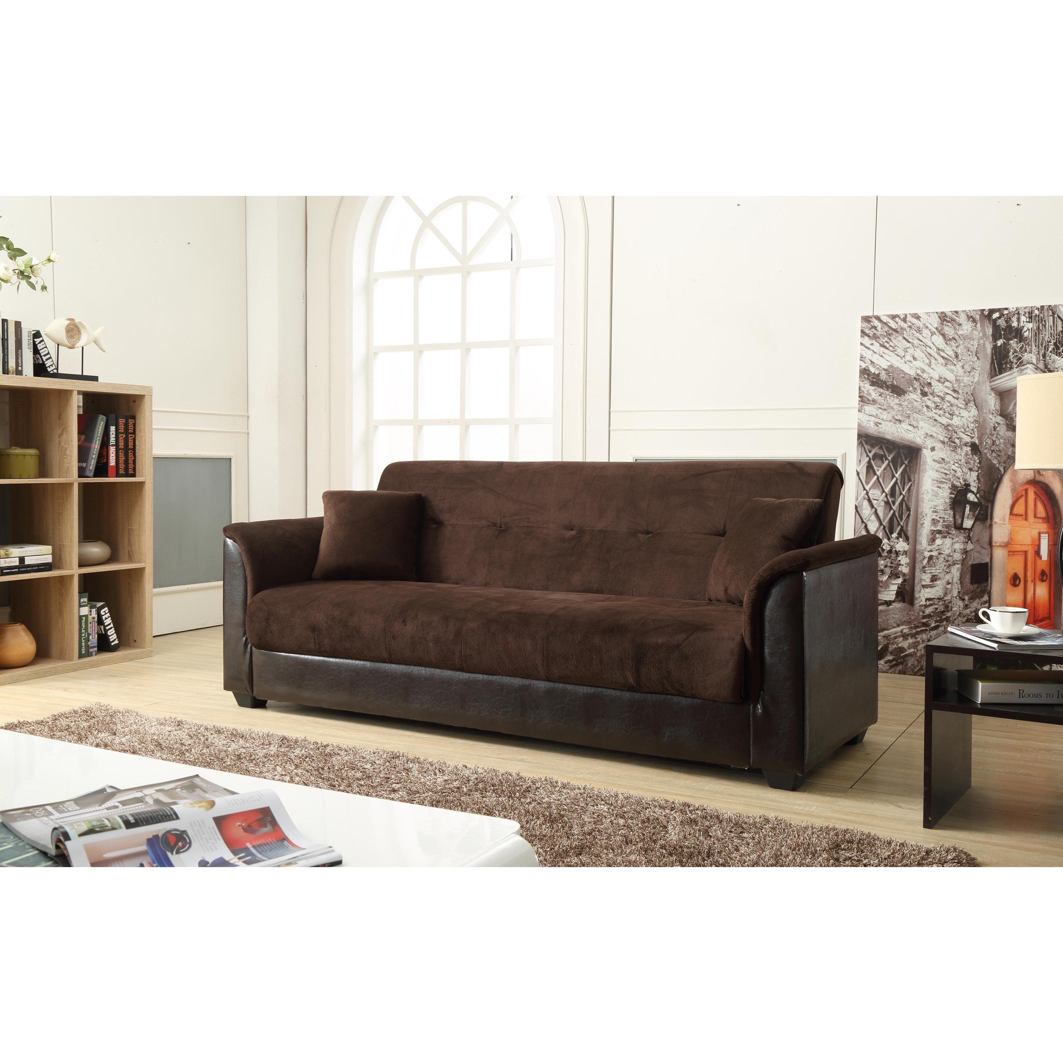 Shop Nathanial Home Melanie Brown Champion Storage Futon Sofa Bed