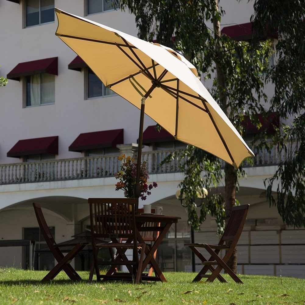Octagon Patio Umbrella With Adjule Tilt Aluminum Frame Free Shipping Today 12494395