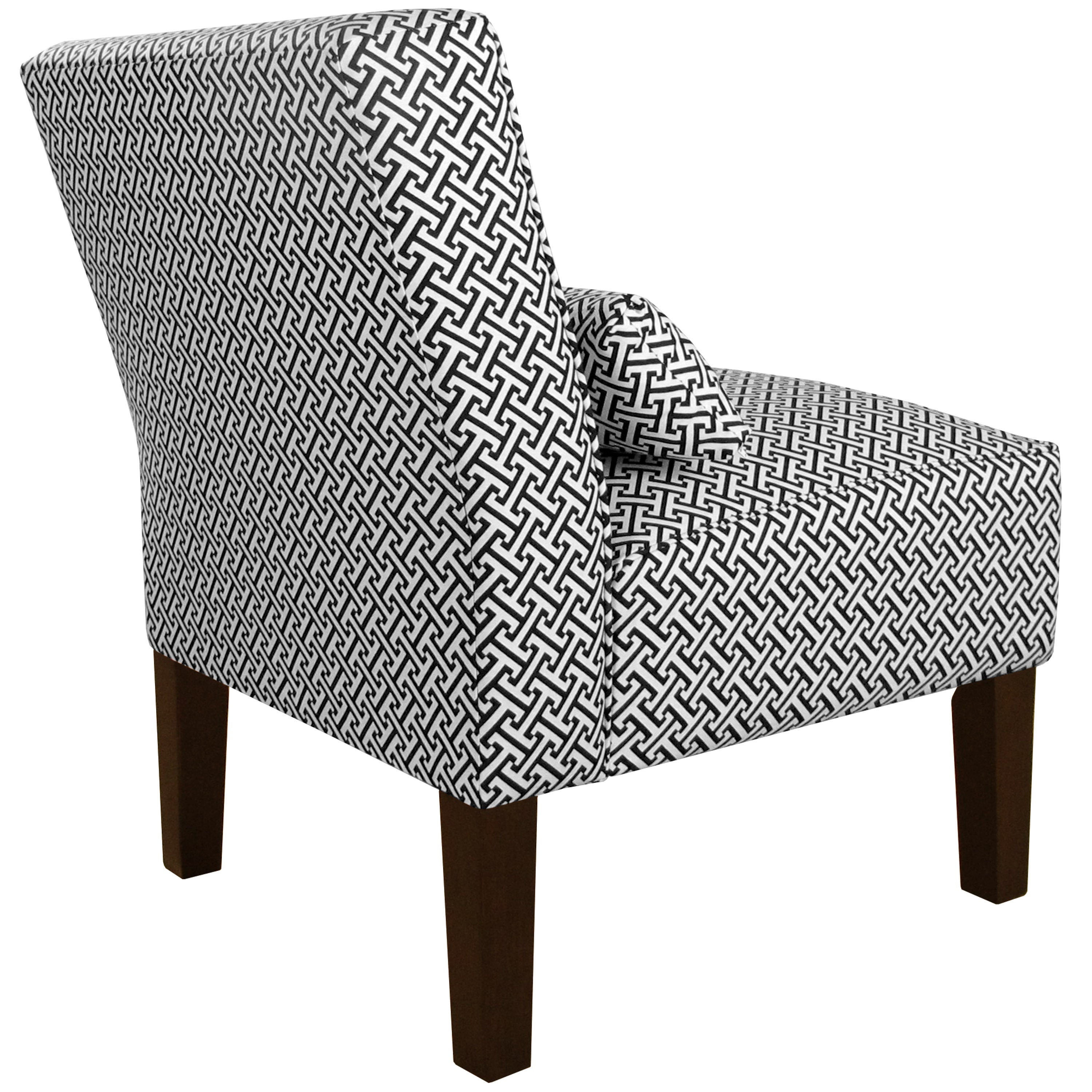 Skyline furniture cross section licorice cotton upholstered solid pine armless chair