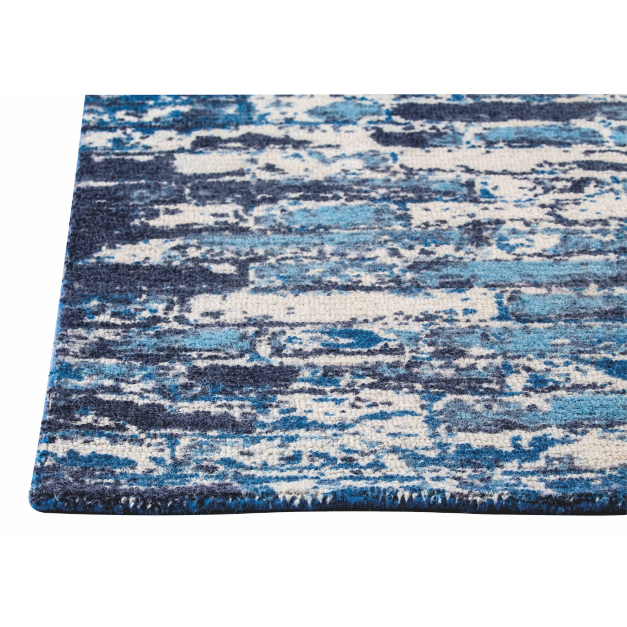 M.A.Trading Hand-woven Fargo Blue Rug (8\'x10\') - 8\' x 10\' - Free ...