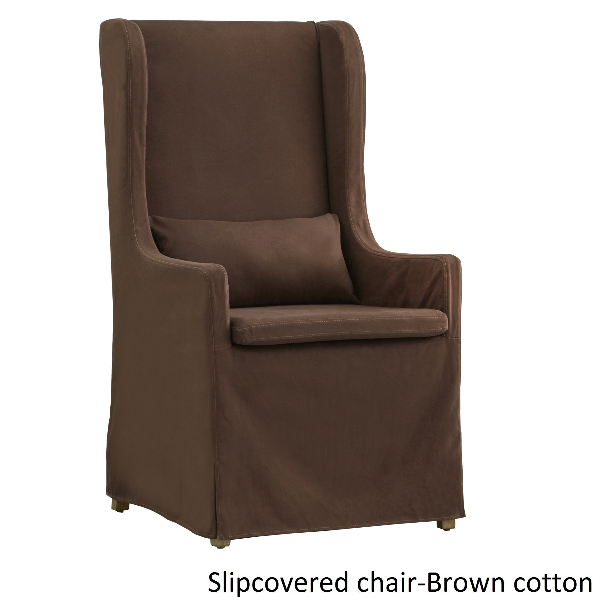 Potomac Slipcovered Wingback Host Chair by iNSPIRE Q Artisan Free