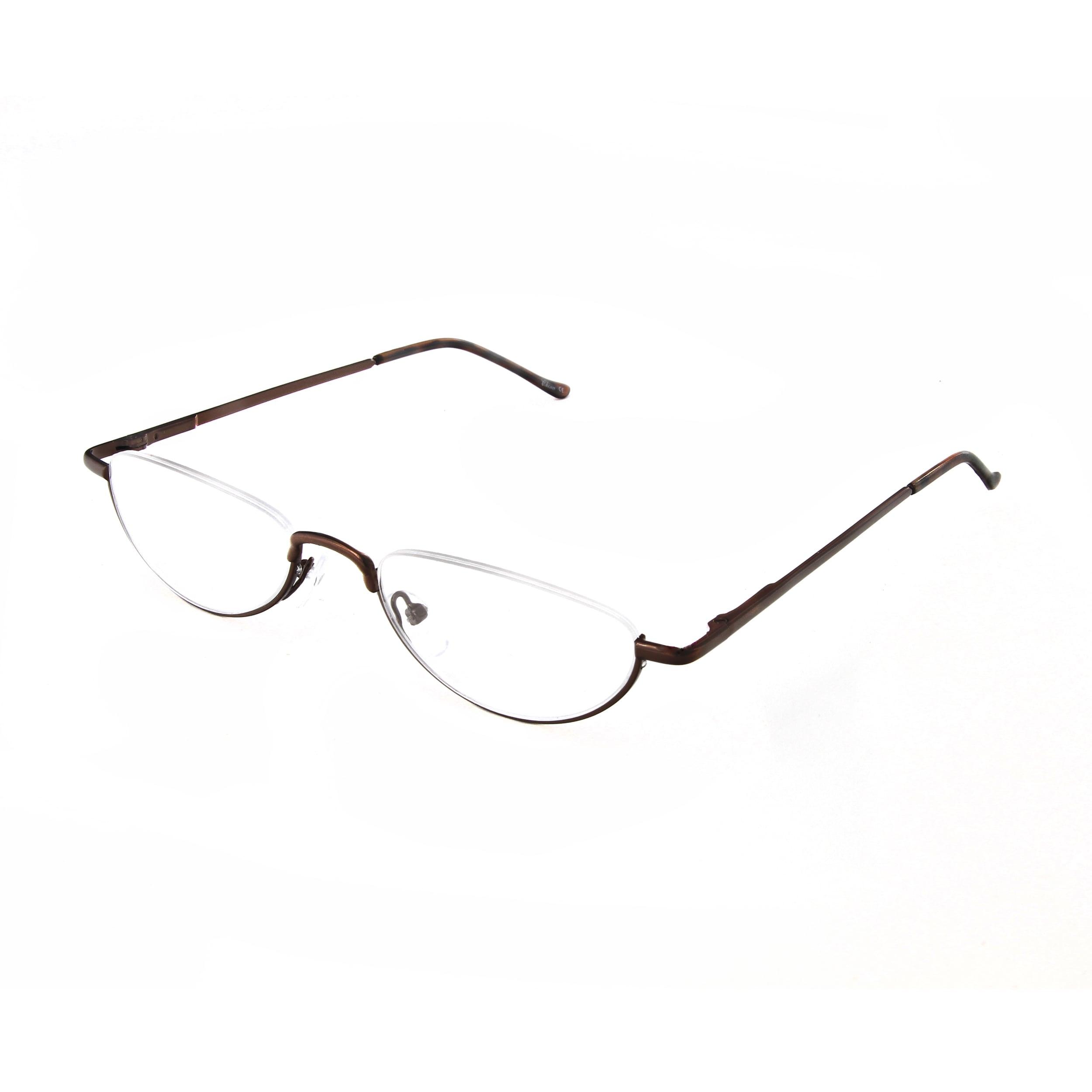 8b4305b3183a Shop Hot Optix Unisex Oval Semi-rimless Reading Glasses - Free ...