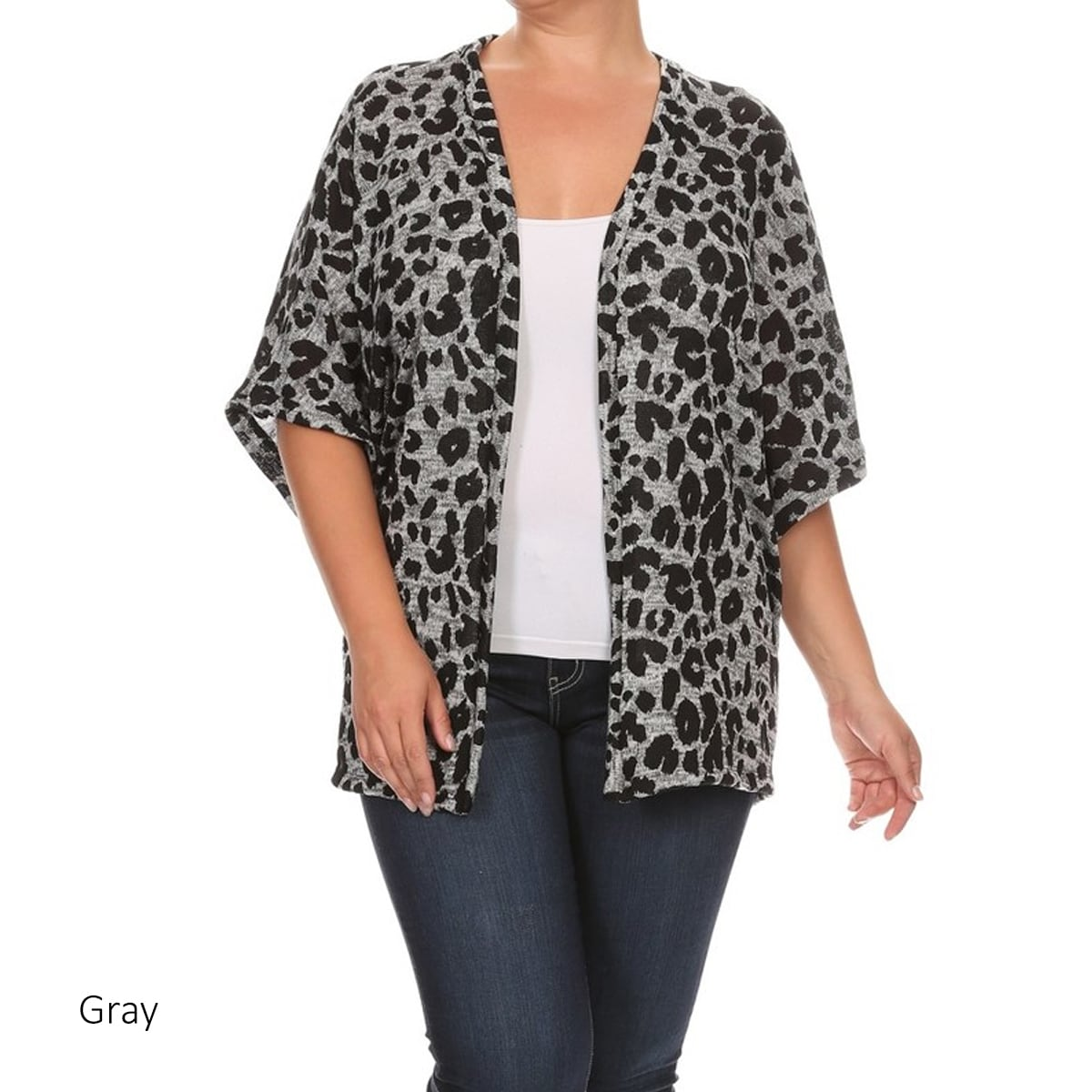 6322c6b643 Shop Women's Animal-print Plus-size Cardigan - Free Shipping On Orders Over  $45 - Overstock - 12505940