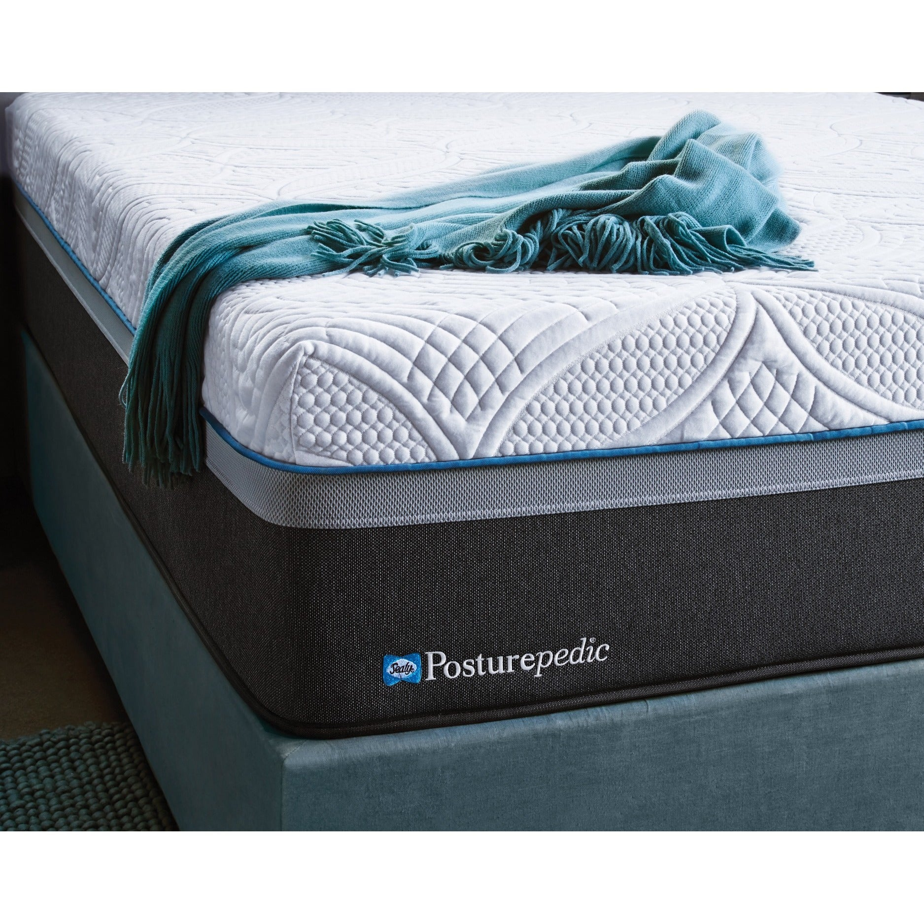 Sealy Posturepedic Hybrid Copper Cushion Firm Queen Size Mattress Set Free Shipping Today 12508596