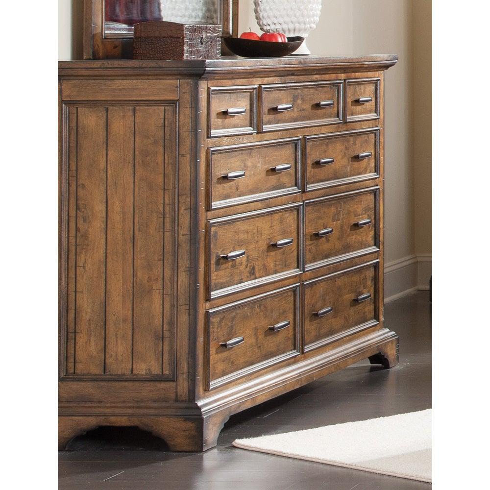 Shop coaster company brown wood veneer dresser free shipping today overstock com 12508998