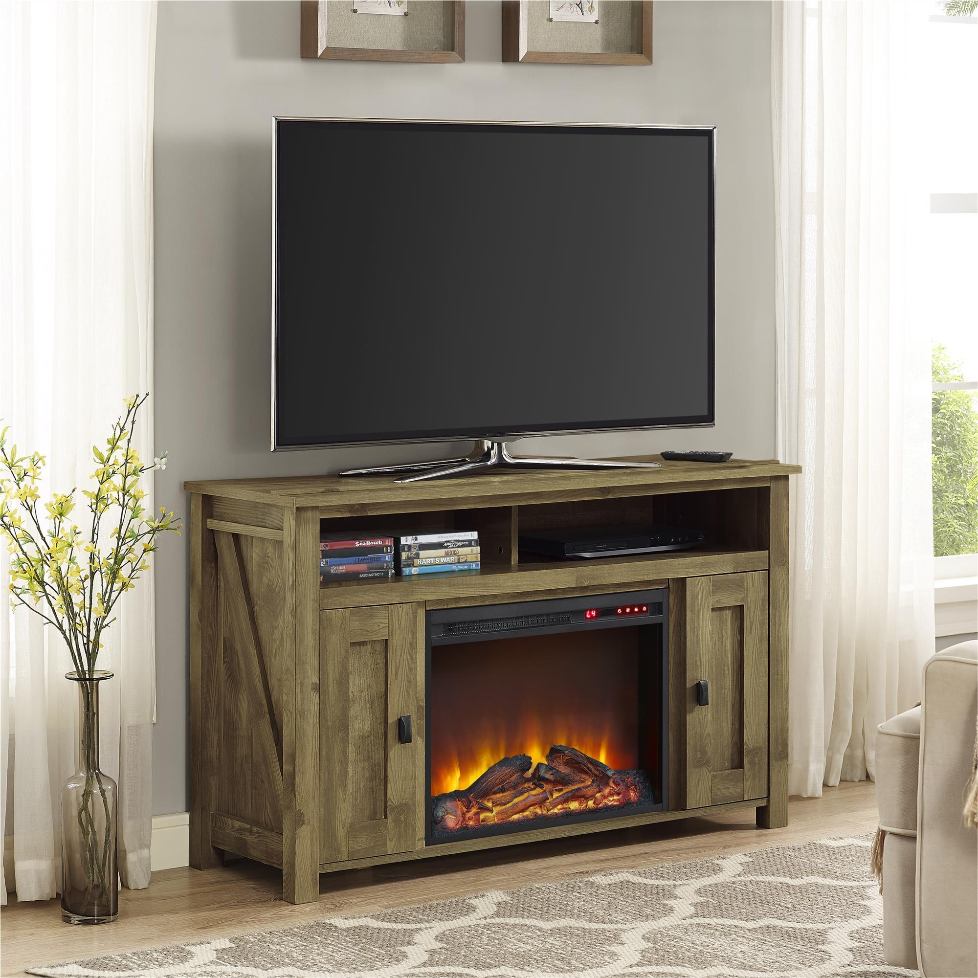fireplace sauder media entertainment products center credenza palladia