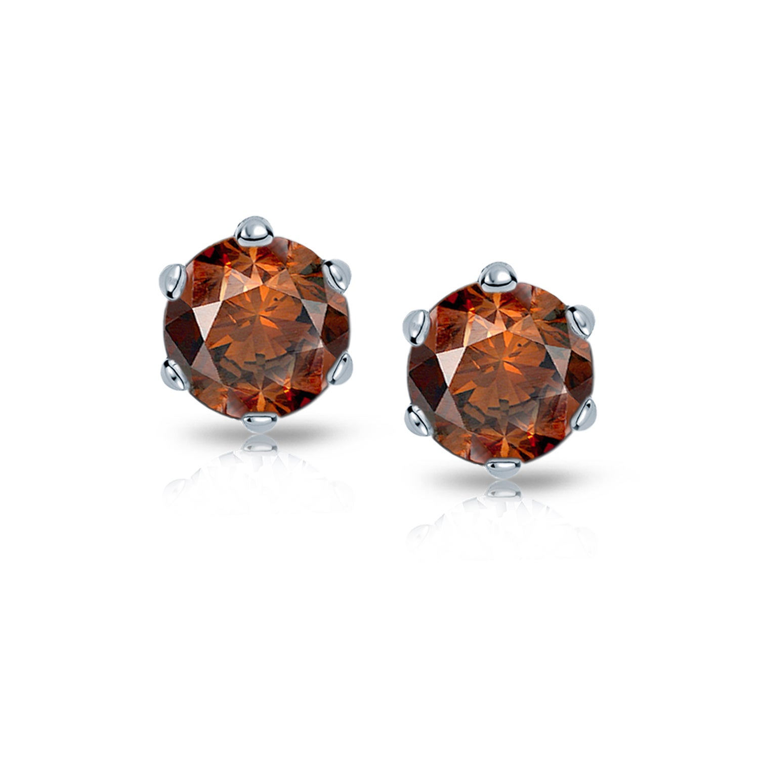 stud diamond round products sparkleloots earrings brown