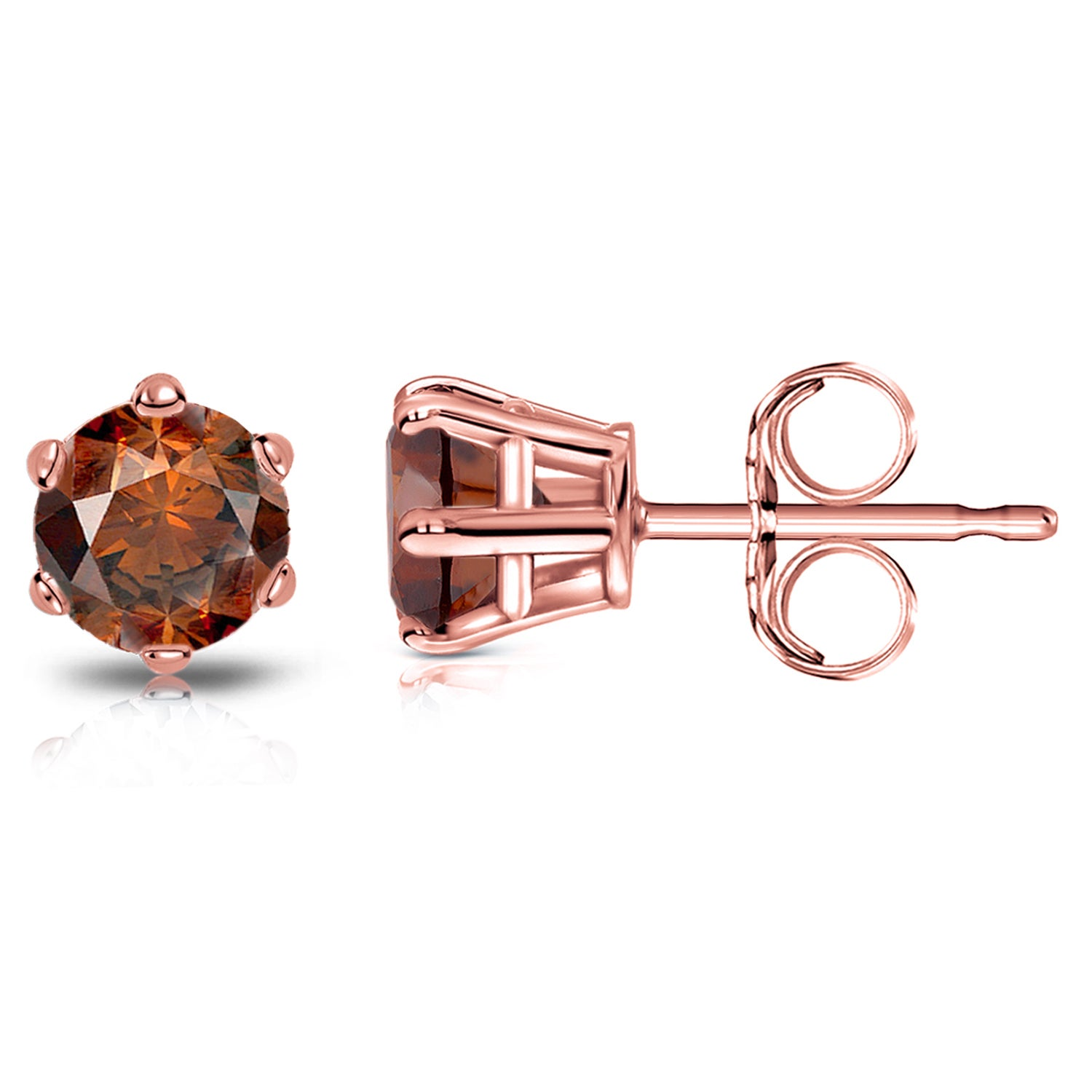 shipping rose overstock miadora and tdw free h i brown watches diamond jewelry product gold today morganite stud earrings