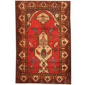 Herat Oriental Afghan Hand-knotted 1960s Semi-antique Tribal Balouchi Wool Rug (3' x 4'4)