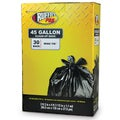 Ruffies Pro 1124922 45 Gallon Jumbo Black Trash Bags 30 Count