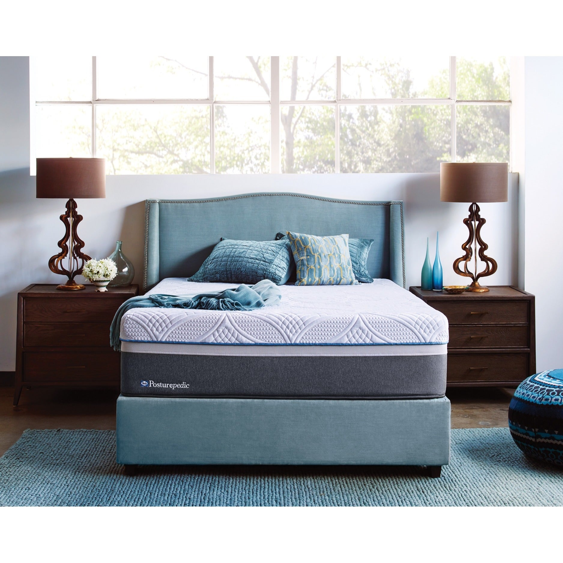 Sealy Posturepedic Hybrid Copper Plush King Size Mattress Free Shipping Today 12519483