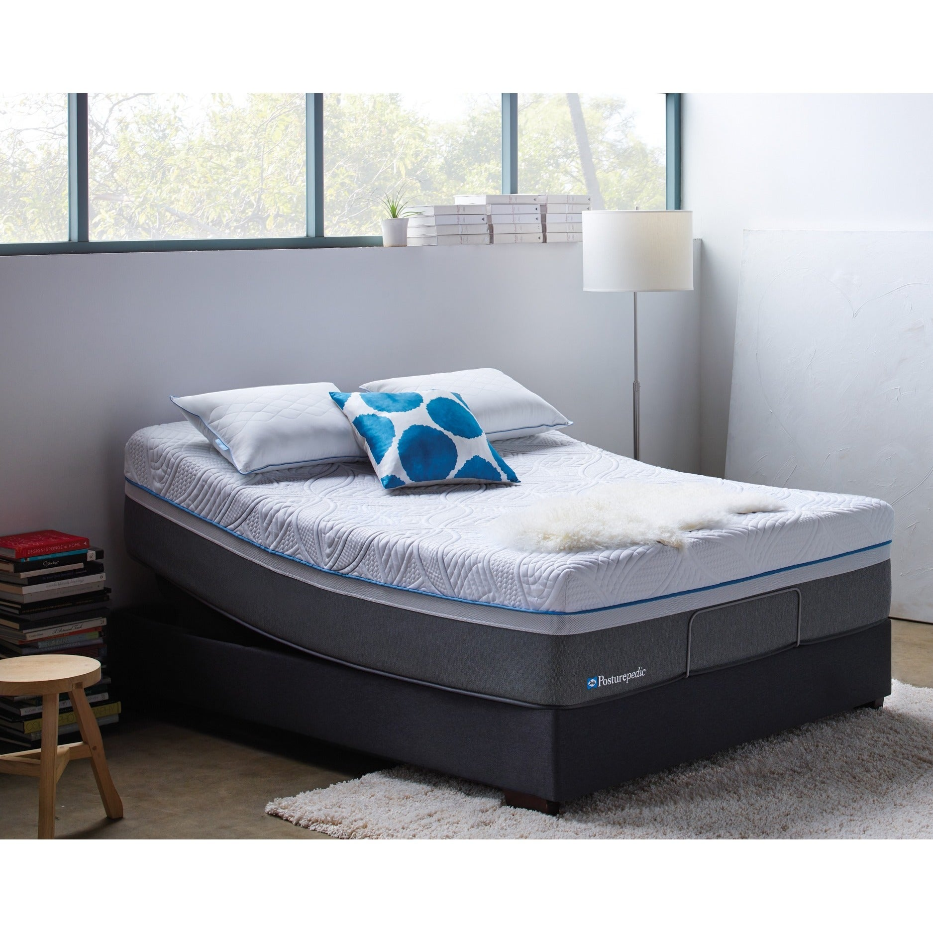 Sealy Posturepedic Hybrid Copper Plush Queen Size Mattress Free Shipping Today 12519499
