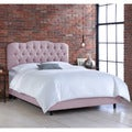 Skyline Smokey Quartz Tufted Linen Bed