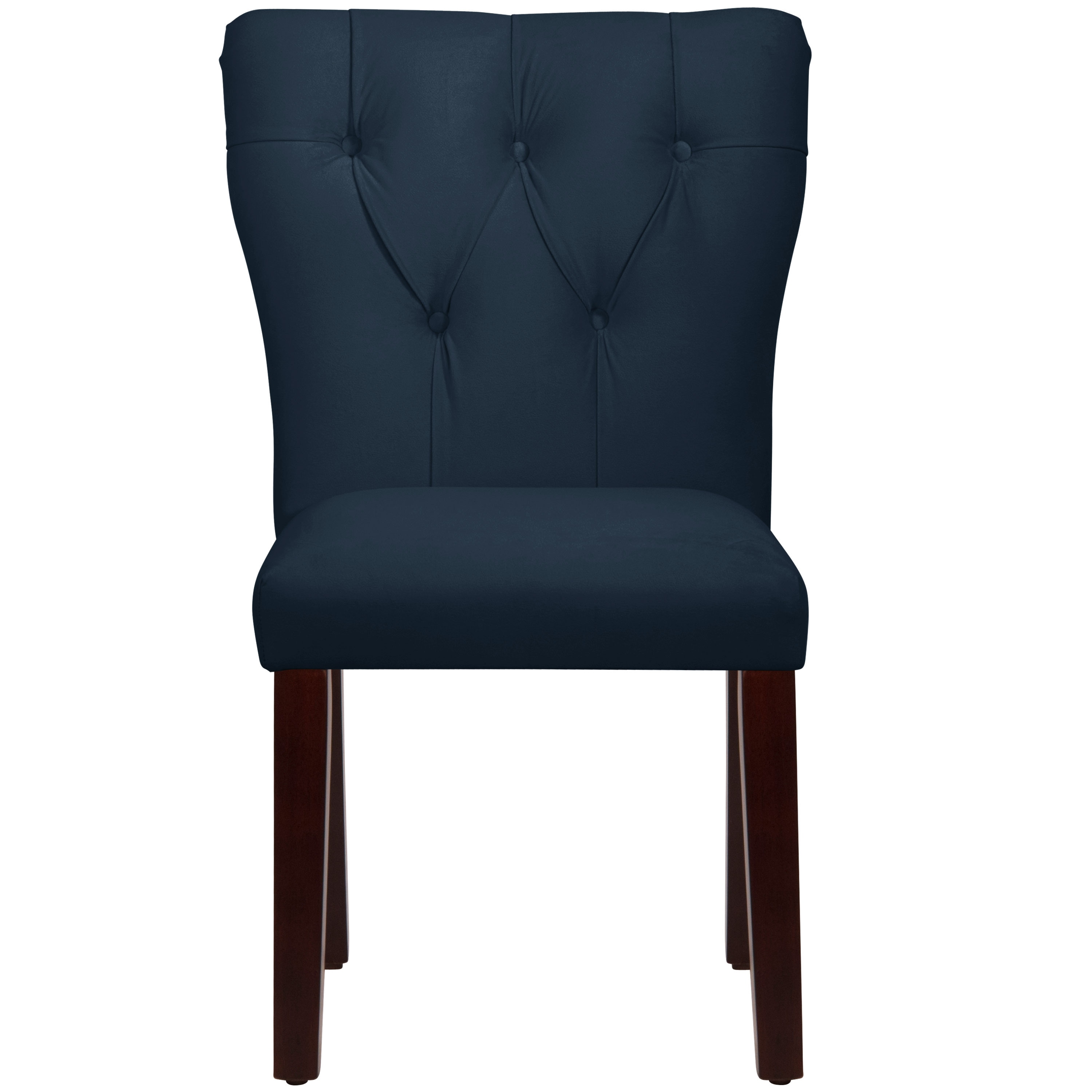 Skyline furniture navy hardwood polyurethane tufted hourglass dining chair